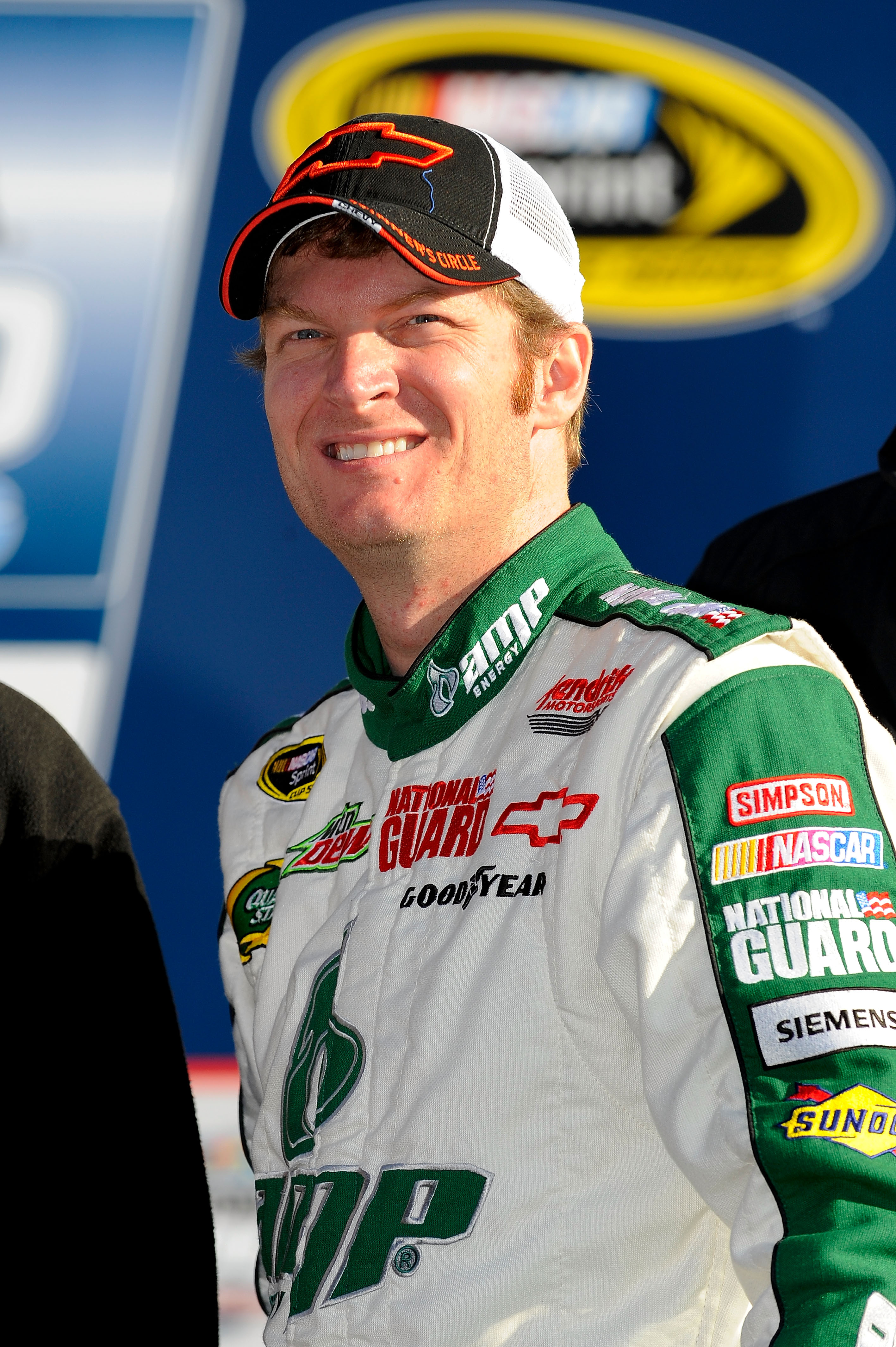Dale Earnhardt Jr. sits on the pole for this years Daytona 500.