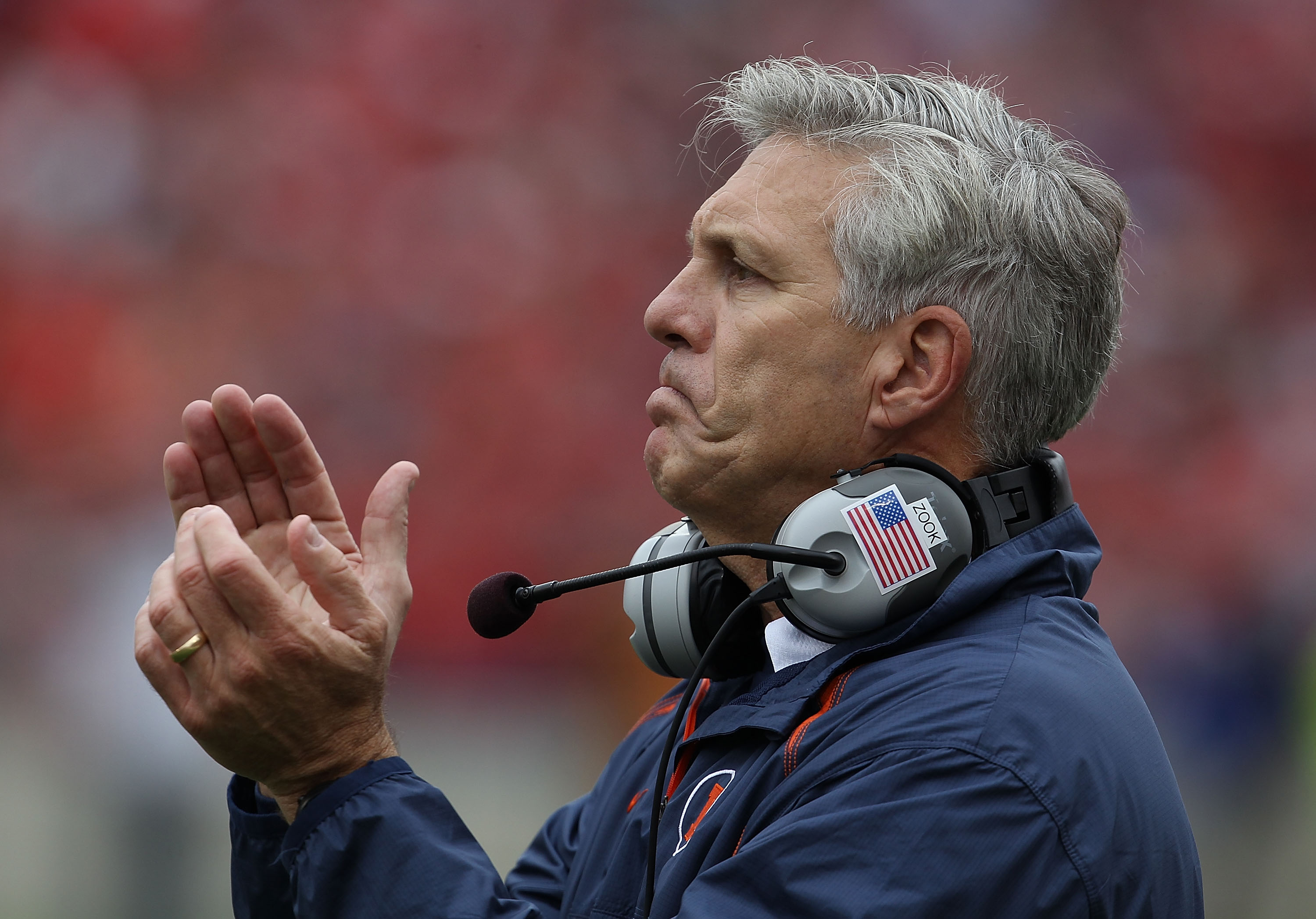 Ron Zook praised the work of Corey Liuget for Illinois