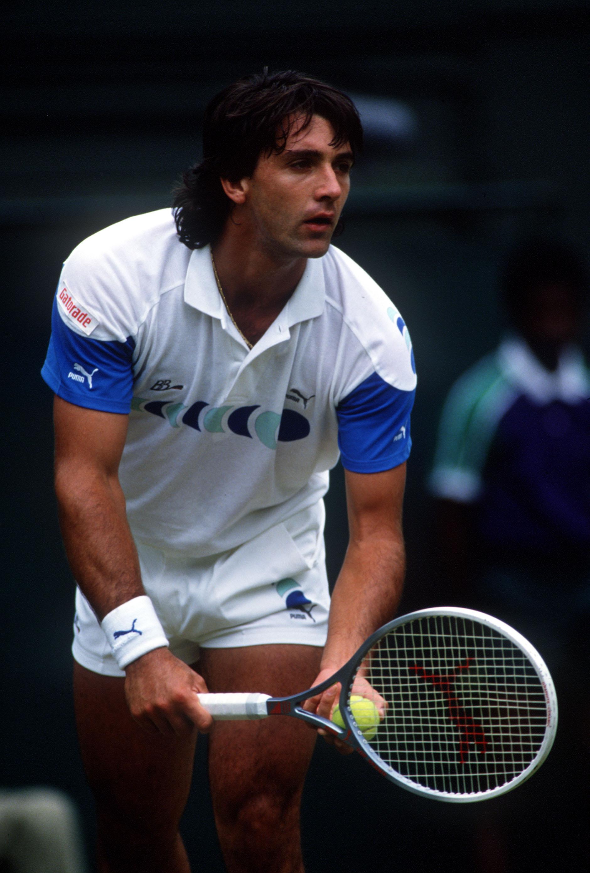 Jun 1988:  Slobodan Zivojinovic of Yugoslavia in action at the Wimbledon Lawn Tennis Championships, London. Mandatory Credit: Allsport UK/ALLSPORT