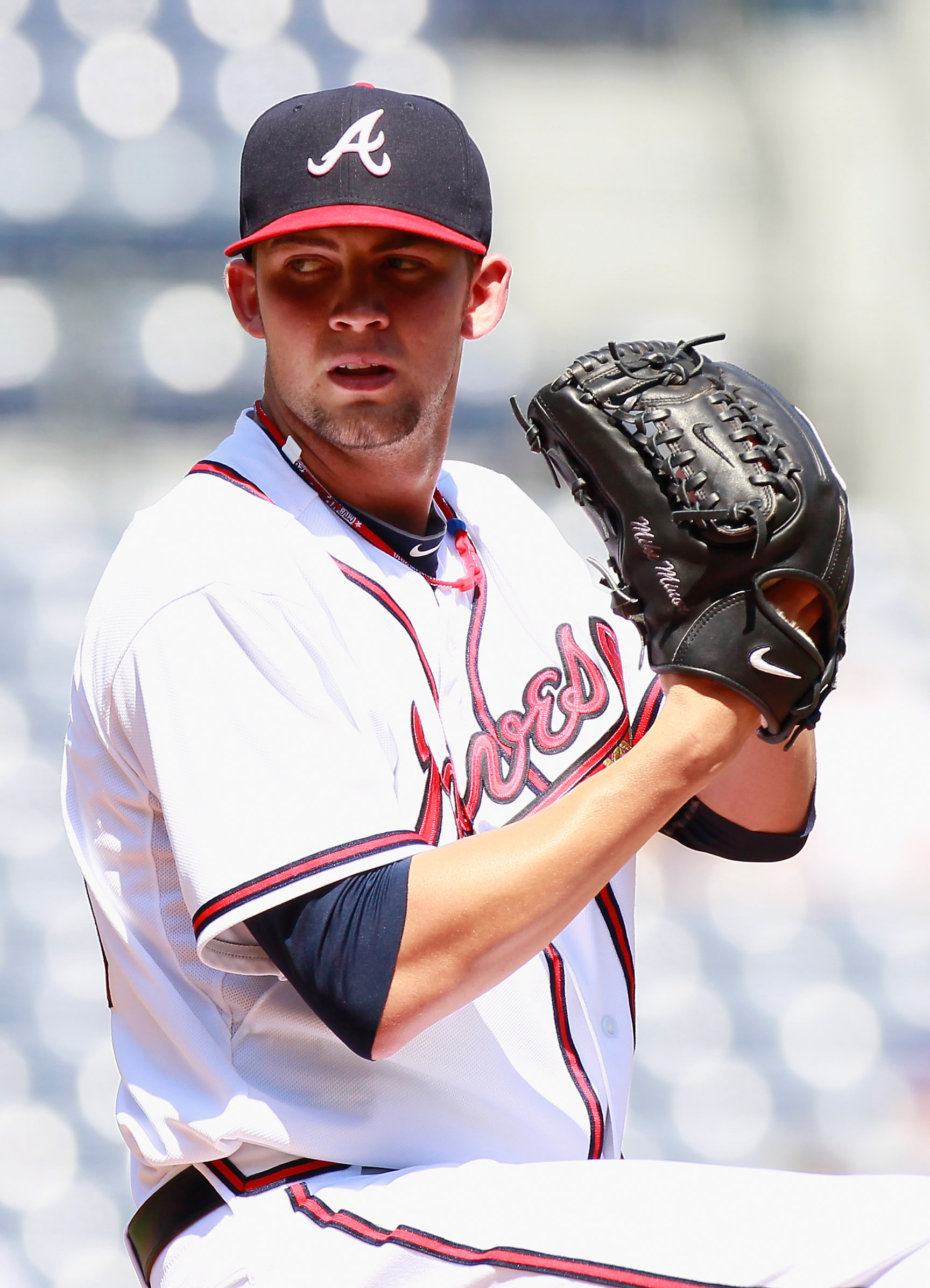 ATLANTA - SEPTEMBER 15:  Starting pitcher Mike Minor #56 of the Atlanta Braves pitches against the Washington Nationals at Turner Field on September 15, 2010 in Atlanta, Georgia.  (Photo by Kevin C. Cox/Getty Images)