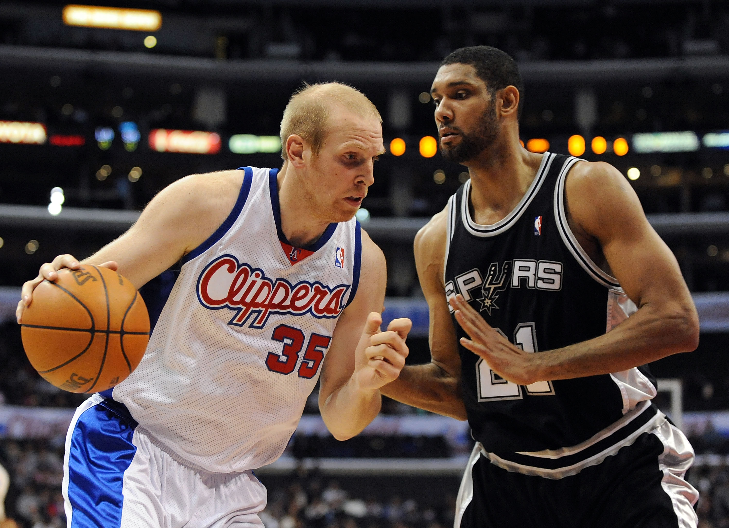 Chris Kaman is currently auditioning for a new team.