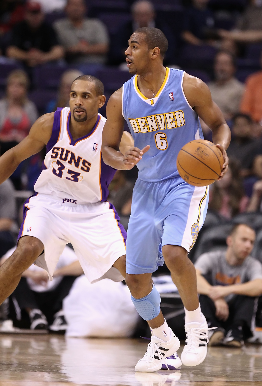 f0eaeaf8d8dc PHOENIX - OCTOBER 22  Arron Afflalo  6 of the Denver Nuggets handles the  ball