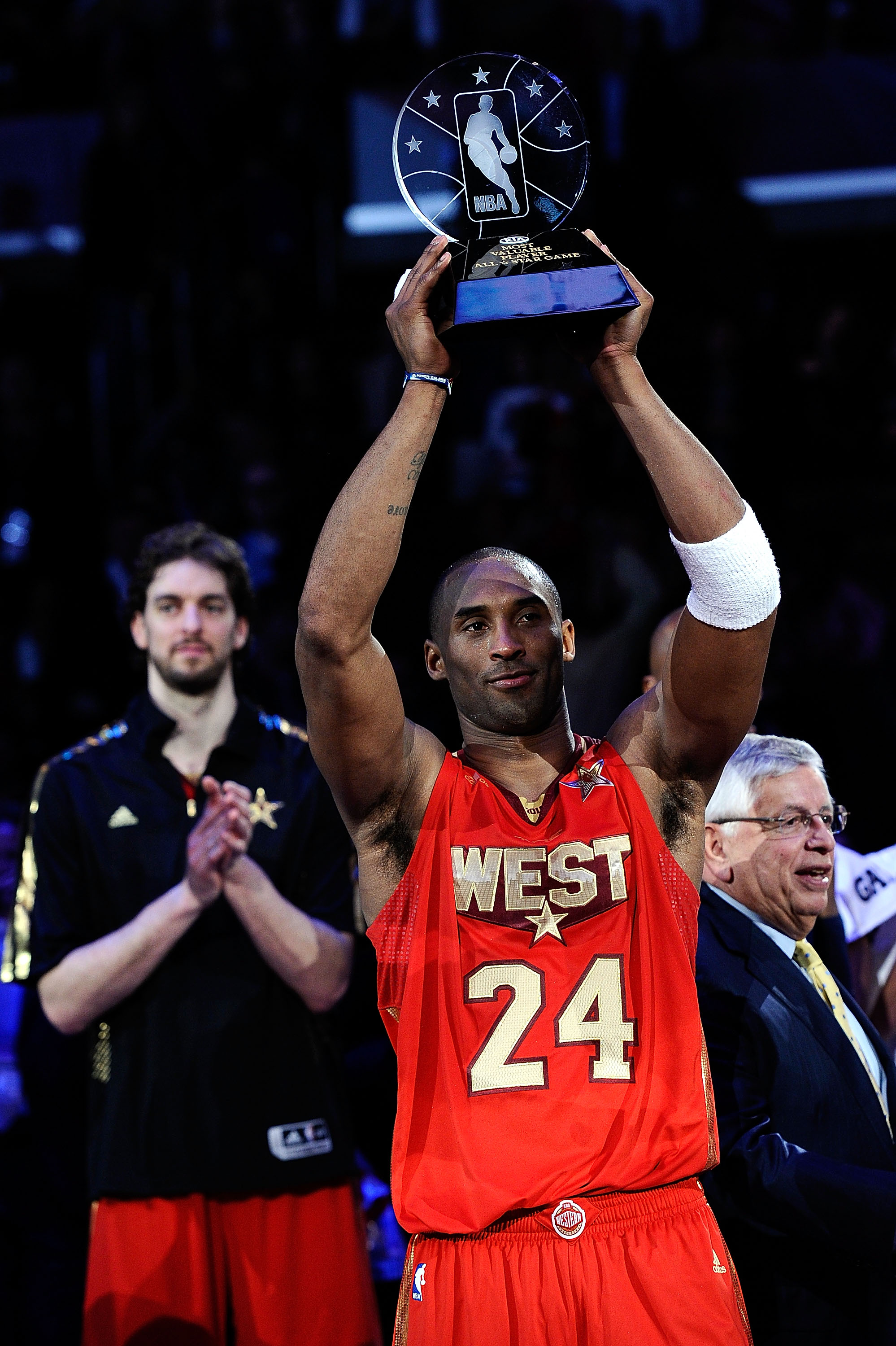 Kobe Bryant winning his record-tying fourth All-Star MVP Award
