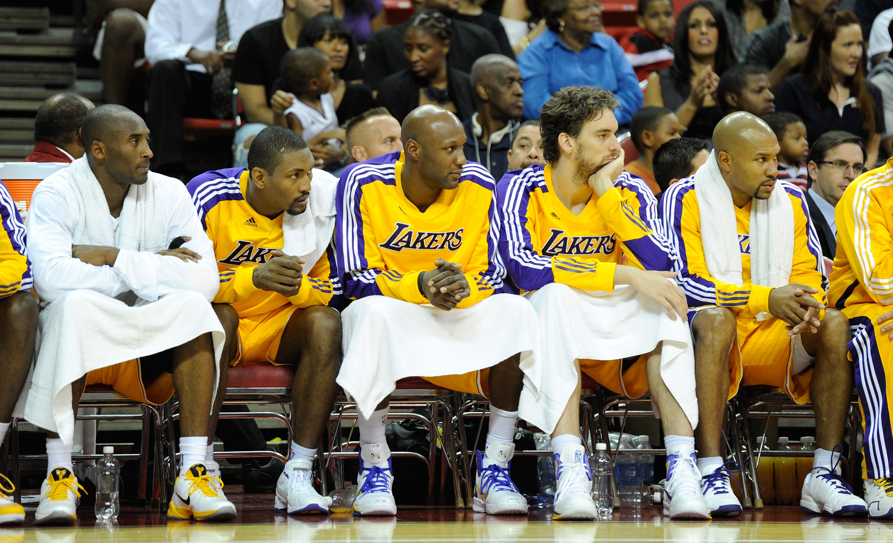 The Lakers core roster group (sans Andrew Bynum)