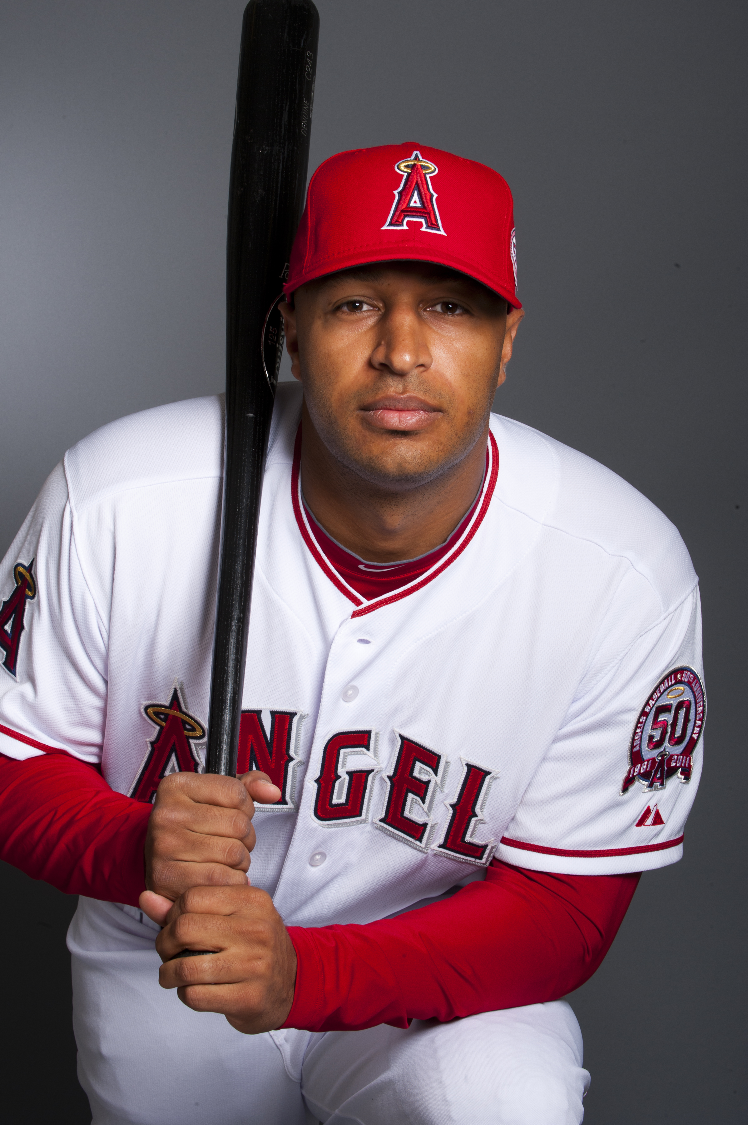 TEMPE, AZ - FEBRUARY 21: Vernon Wells #10 of the Los Angeles Angels of Anaheim poses during their photo day at Tempe Diablo Stadium on February 21, 2011 in Tempe,Arizona. (Photo by Rob Tringali/Getty Images)