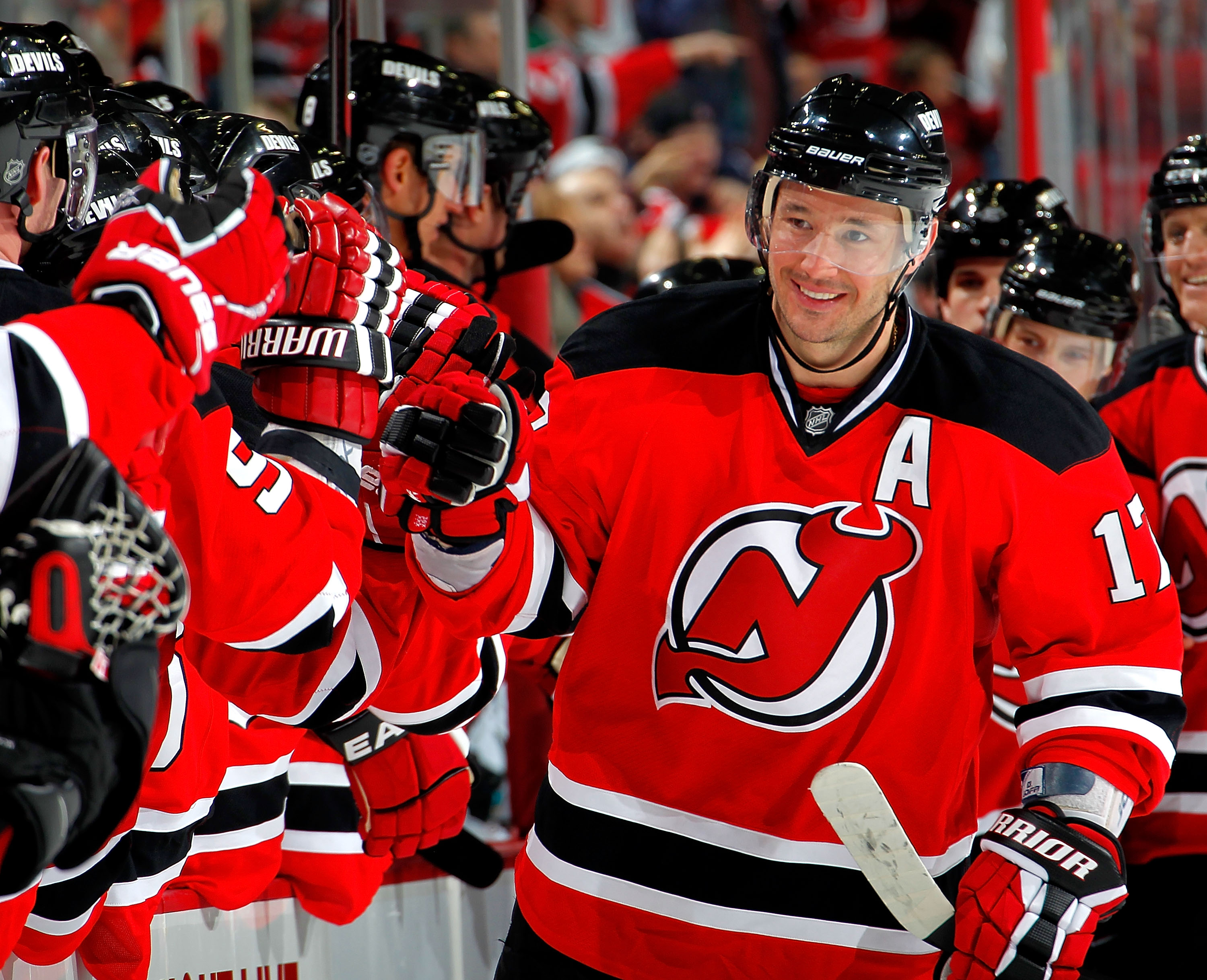 Ilya Kovalchuk has been all smiles of late, and has taken his game to the next level, at both sides of the ice.