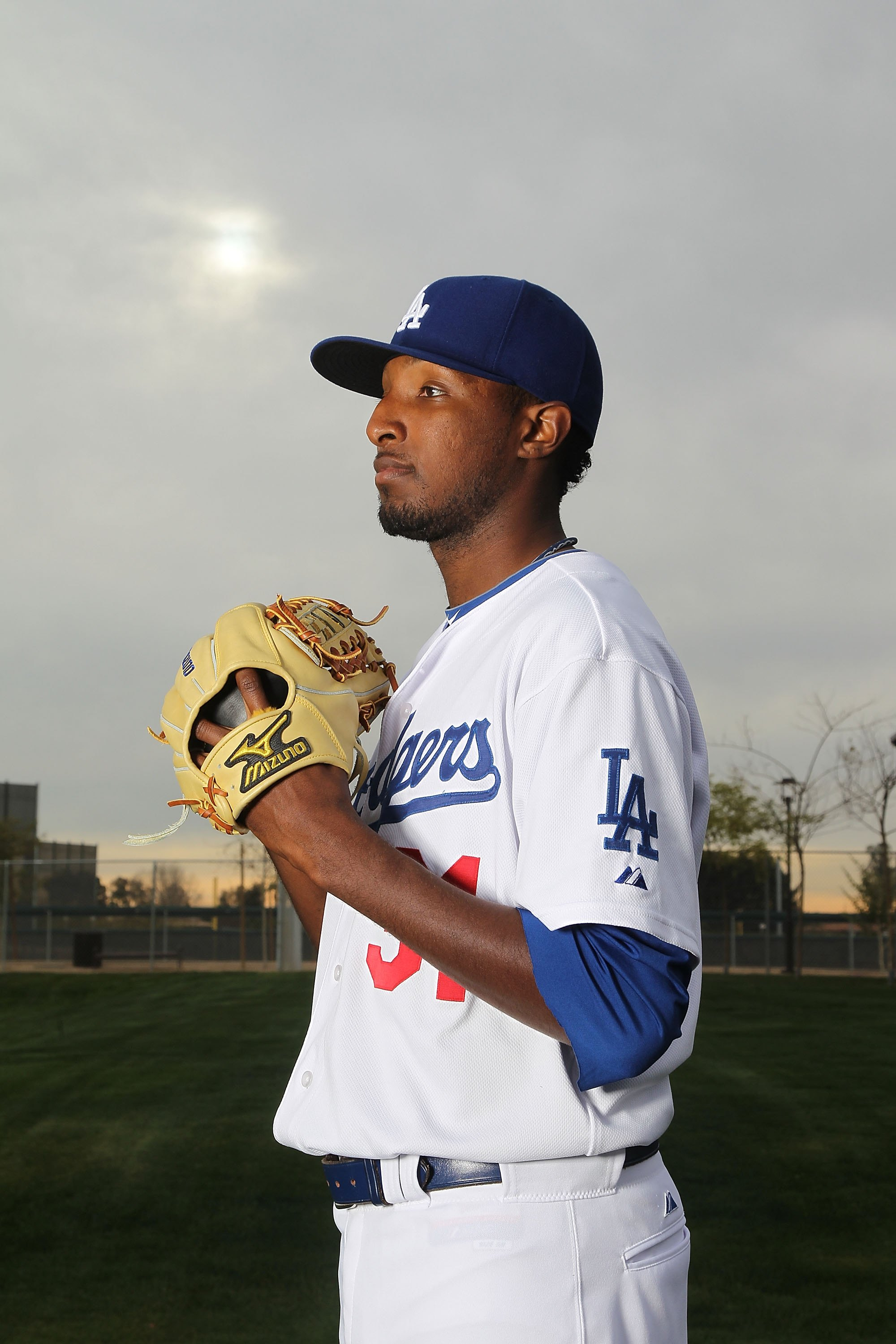 GLENDALE, AZ - FEBRUARY 27:  James McDonald of the Los Angeles Dodgers poses during media photo day on February 27, 2010 at the Ballpark at Camelback Ranch, in Glendale, Arizona.  (Photo by Jed Jacobsohn/Getty Images)