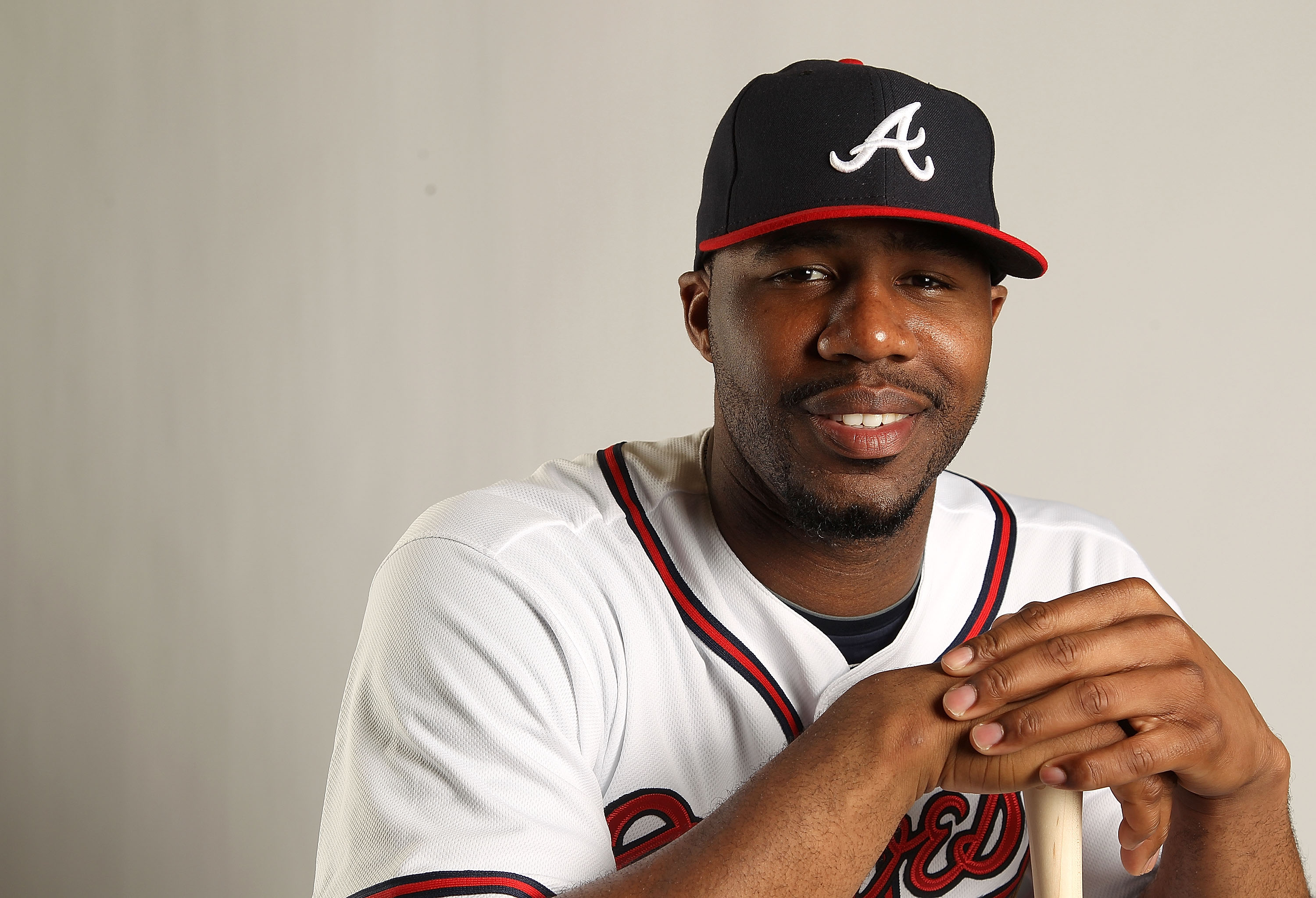 LAKE BUENA VISTA, FL - FEBRUARY 21:  Jason Heyward #22 of the Atlanta Braves during Photo Day at  Champion Stadium at ESPN Wide World of Sports of Complex on February 21, 2011 in Lake Buena Vista, Florida. (Photo by Mike Ehrmann/Getty Images)