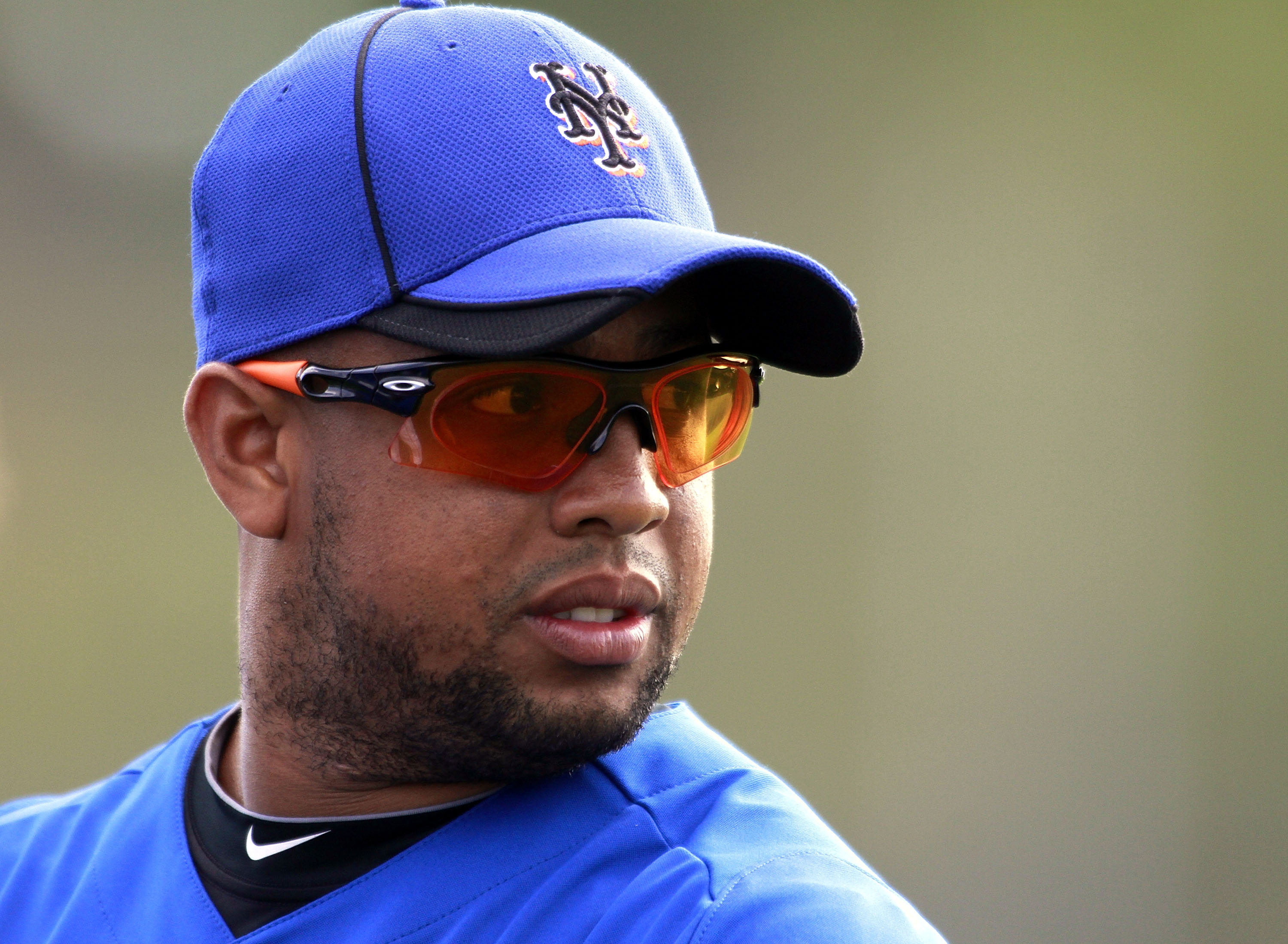 PORT ST. LUCIE, FL - FEBRUARY 17: Pitcher Francisco Rodriguez #75 of the New York Mets works out during spring training at Tradition Field on February 17, 2011 in Port St. Lucie, Florida.  (Photo by Marc Serota/Getty Images)