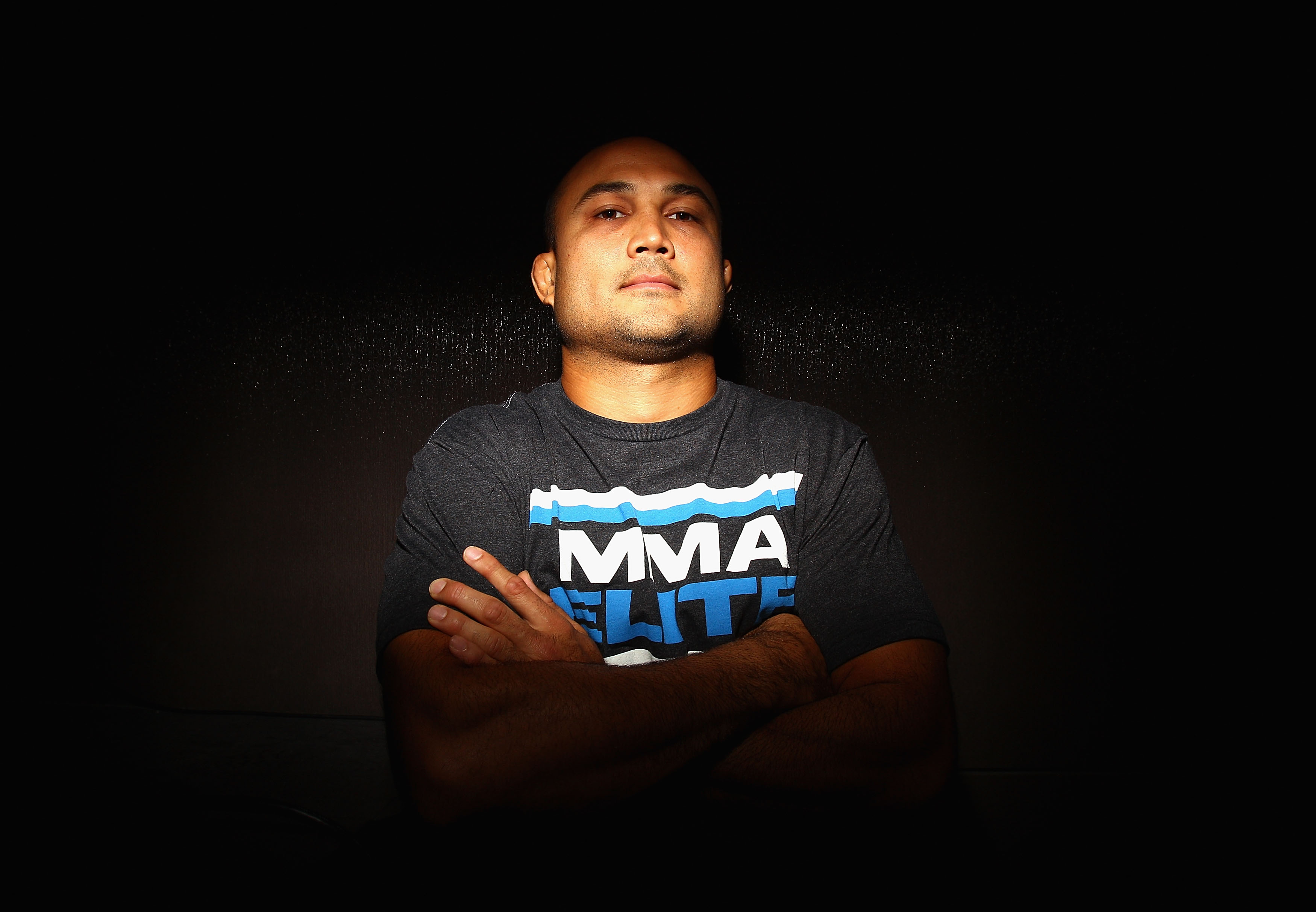 SYDNEY, AUSTRALIA - FEBRUARY 23:  BJ Penn of the USA poses during a Press Conference ahead of UFC 127 at Star City on February 23, 2011 in Sydney, Australia.  (Photo by Ryan Pierse/Getty Images)