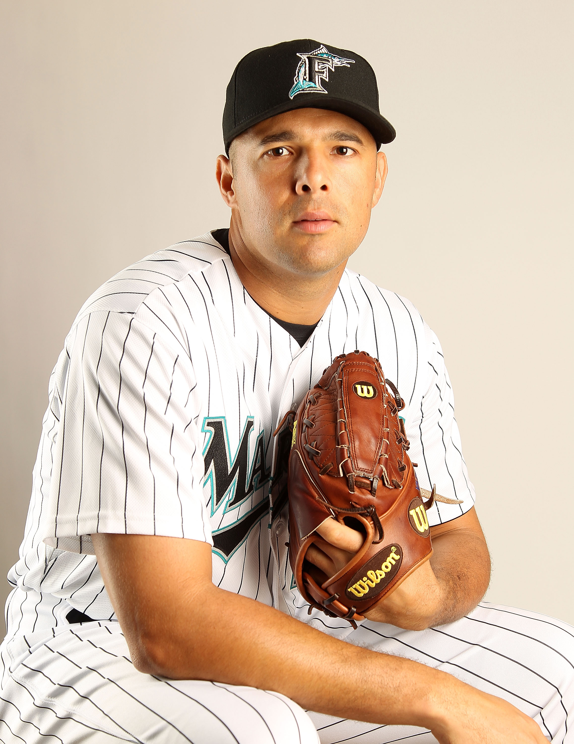 JUPITER, FL - FEBRUARY 23: Javier Vazquez #23 of the Florida Marlins during Photo Day at Roger Dean Stadium on February 23, 2011 in Jupiter, Florida.  (Photo by Mike Ehrmann/Getty Images)