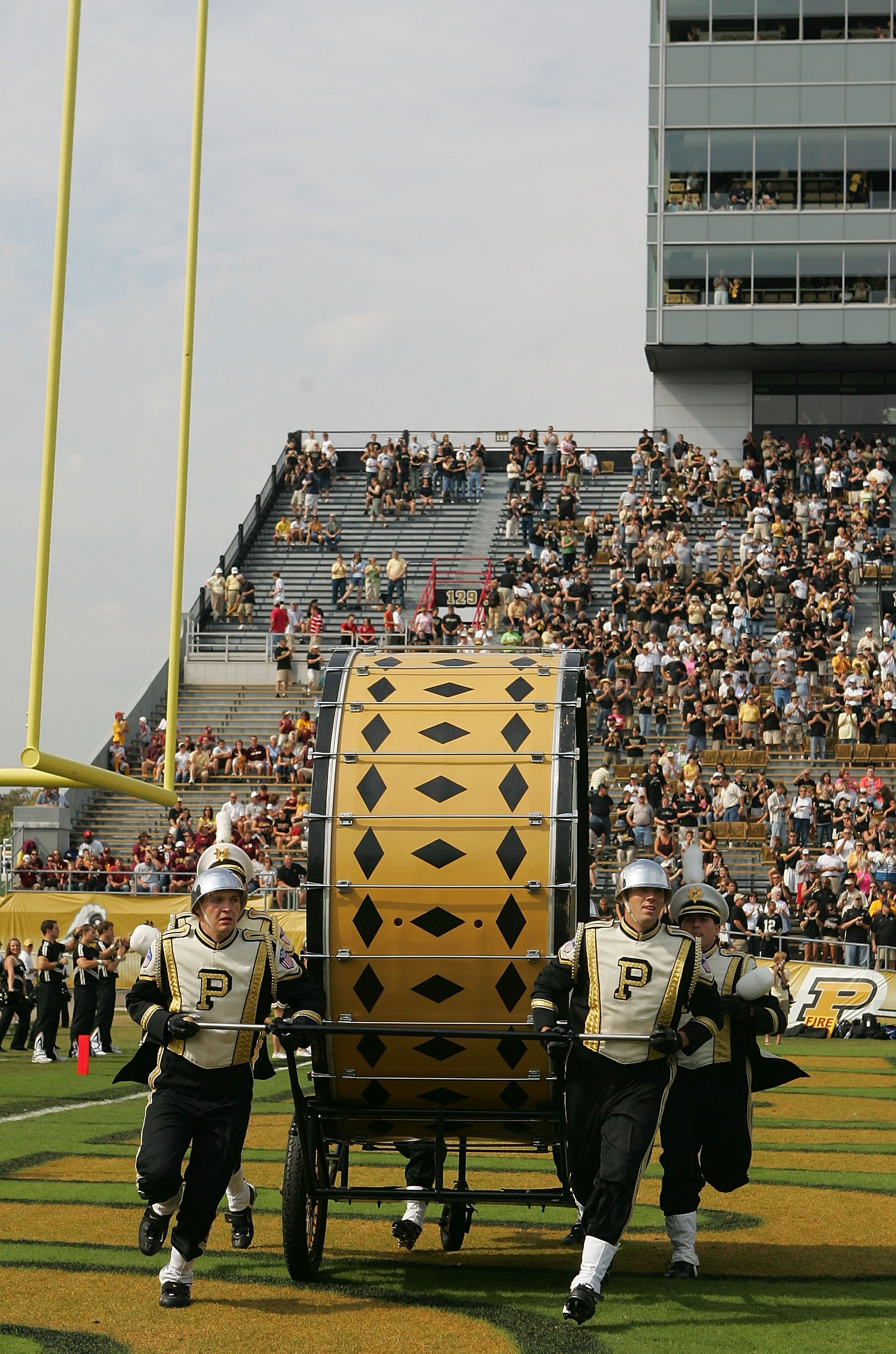 WEST LAFAYETTE, IN - SEPTEMBER 20:  Tthe Purdue 'All American' Marching Band before a game against the Central Michigan Chippewas at Ross-Ade Stadium on September 20, 2008 in West Lafayette, Indiana.  (Photo by Ronald Martinez/Getty Images)