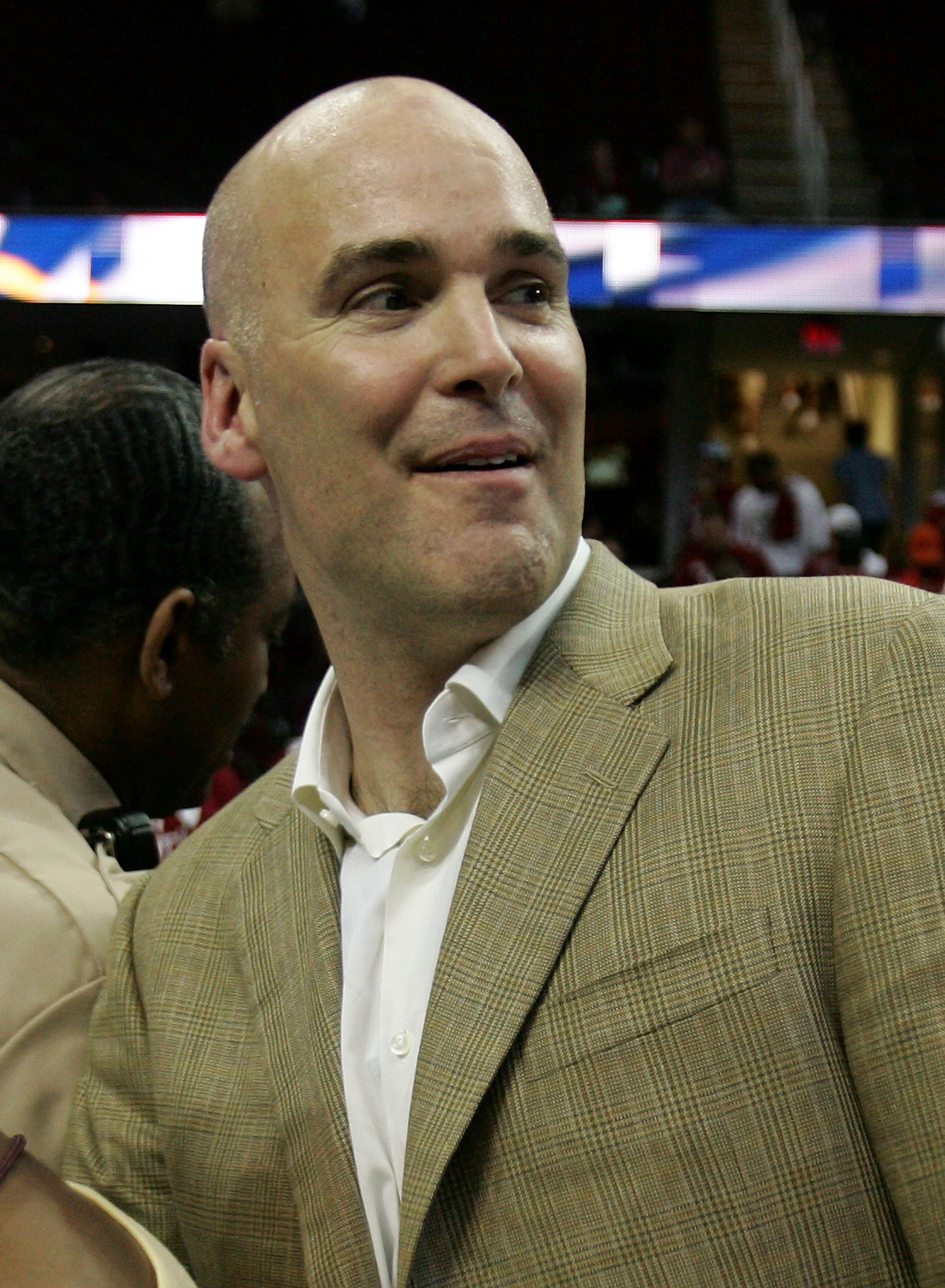 CLEVELAND - JUNE 02:  General Manager Danny Ferry of the Cleveland Cavaliers celebrates after the Cavs won 98-82 to win the Detroit Pistons in Game Six of the Eastern Conference Finals during the 2007 NBA Playoffs on June 2, 2007 at the Quicken Loans Aren