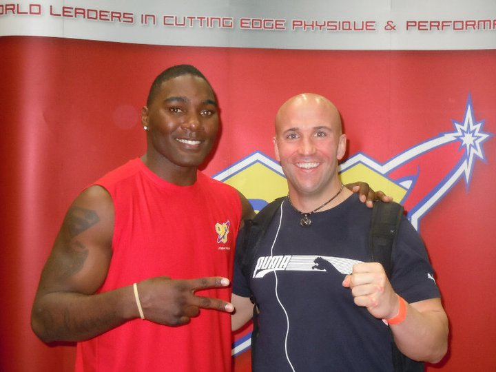 Anthony Johnson and myself in LA