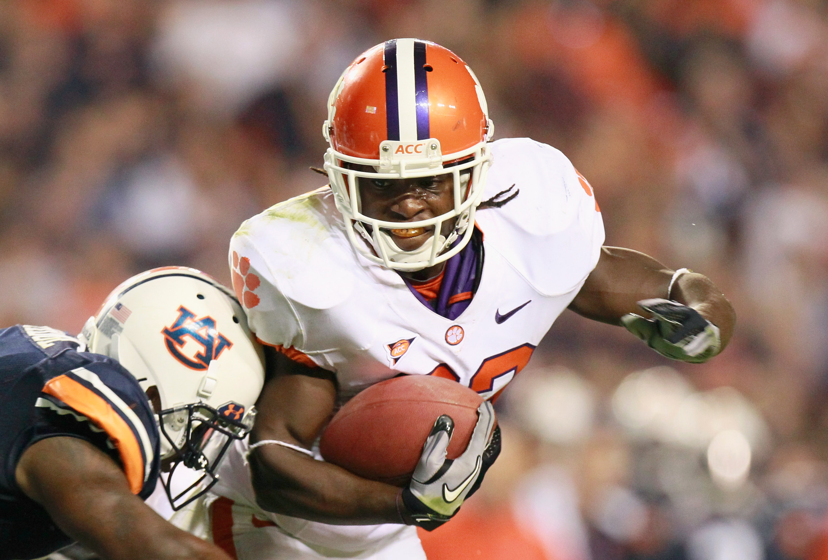 AUBURN, AL - SEPTEMBER 18:  Andre Ellington #23 of the Clemson Tigers against the Auburn Tigers at Jordan-Hare Stadium on September 18, 2010 in Auburn, Alabama.  (Photo by Kevin C. Cox/Getty Images)