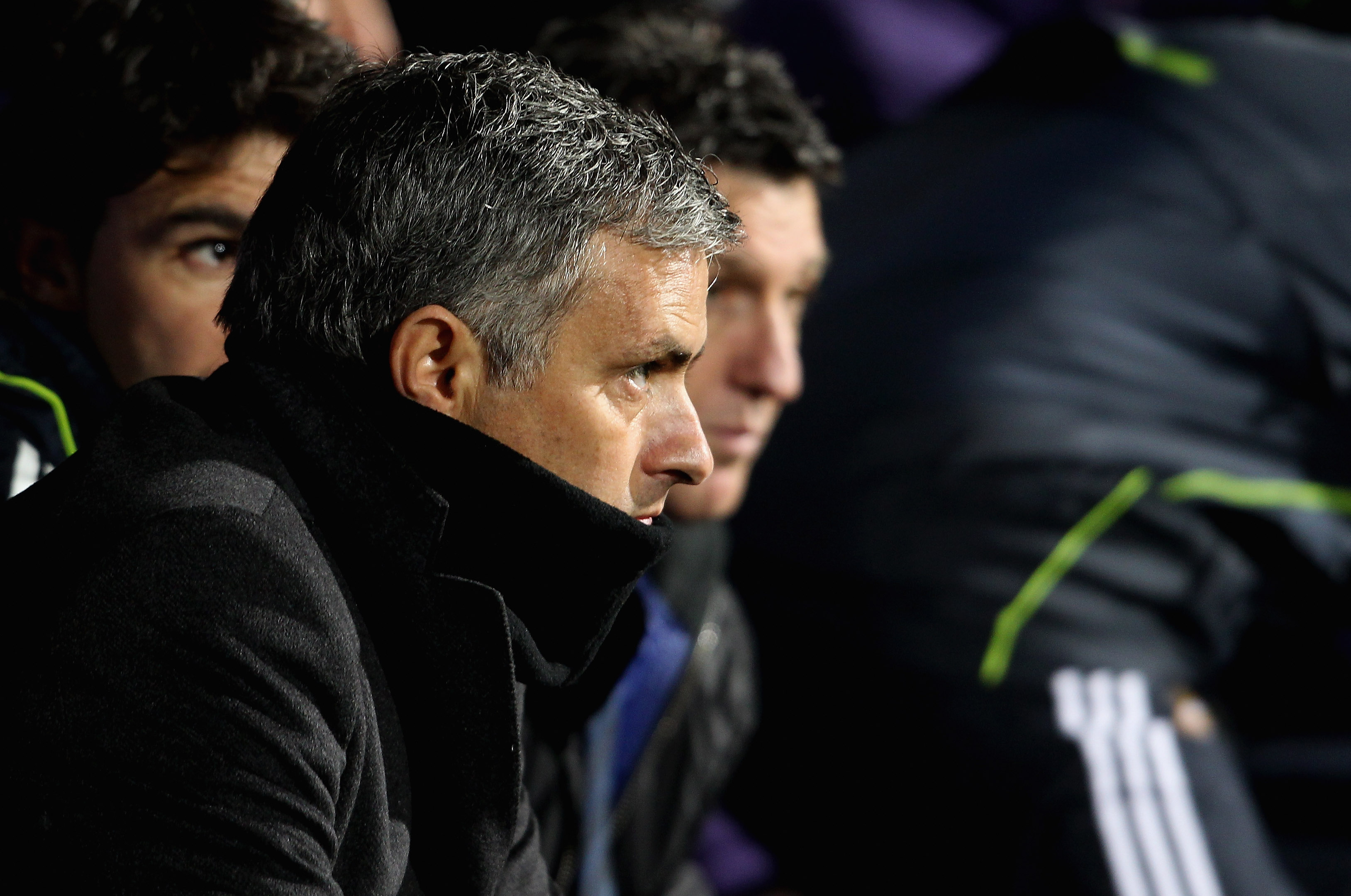 LYON, FRANCE - FEBRUARY 22:  Real Madrid manager Jose Mourinho during the Champions League match between Lyon and Real Madrid at Stade Gerland on February 22, 2011 in Lyon, France.  (Photo by Scott Heavey/Getty Images)