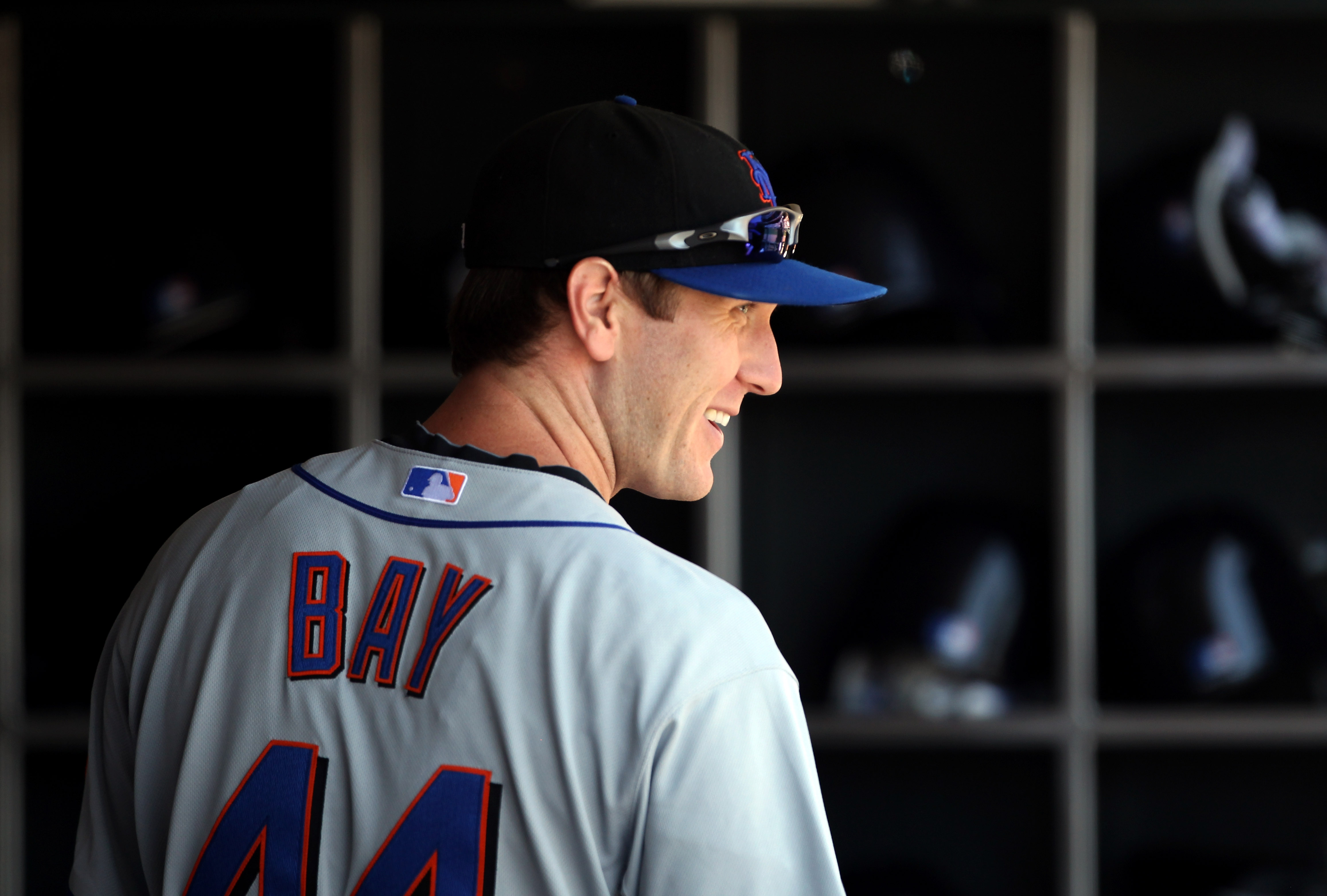 SAN FRANCISCO - JULY 18:  Jason Bay #44 of the New York Mets stands in the dugout before their game against the San Francisco Giants at AT&T Park on July 18, 2010 in San Francisco, California.  (Photo by Ezra Shaw/Getty Images)