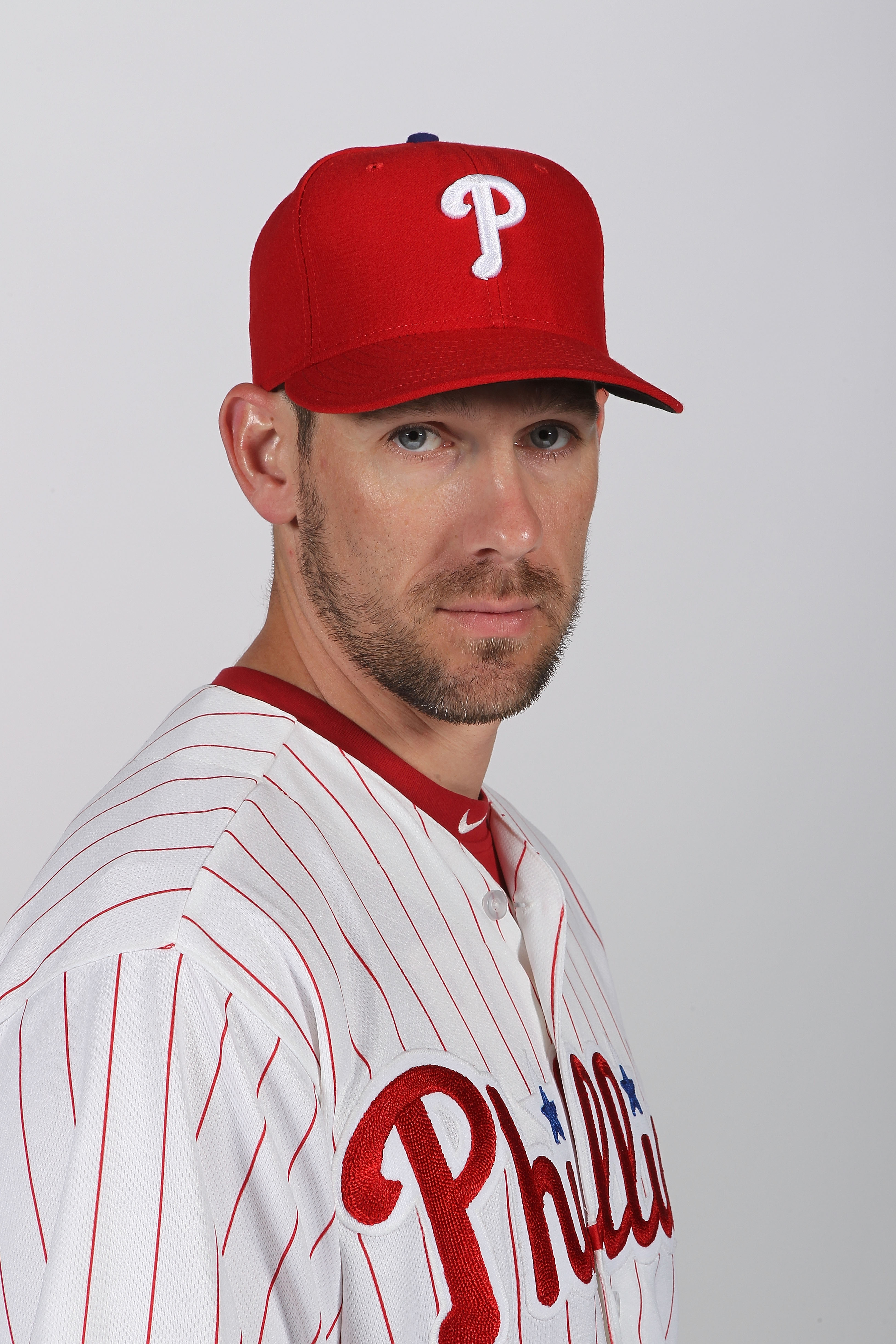 CLEARWATER, FL - FEBRUARY 22:  Cliff Lee #33 of the Philadelphia Phillies poses for a photo during Spring Training Media Photo Day at Bright House Networks Field on February 22, 2011 in Clearwater, Florida.  (Photo by Nick Laham/Getty Images)
