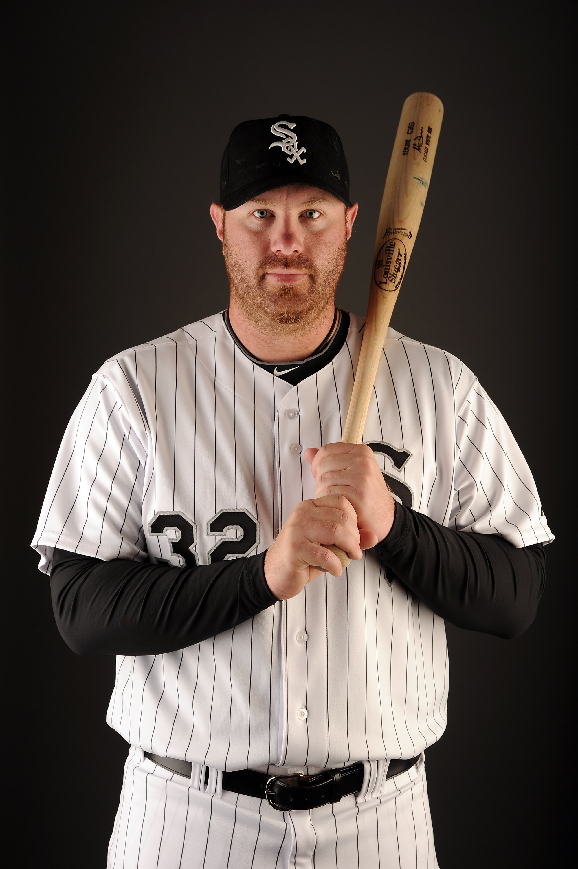 GLENDALE, AZ - FEBRUARY 26:  Adam Dunn #32 of the Chicago White Sox poses for a photo on photo day at Camelback Ranch on February 26, 2011 in Glendale, Arizona.  (Photo by Harry How/Getty Images)