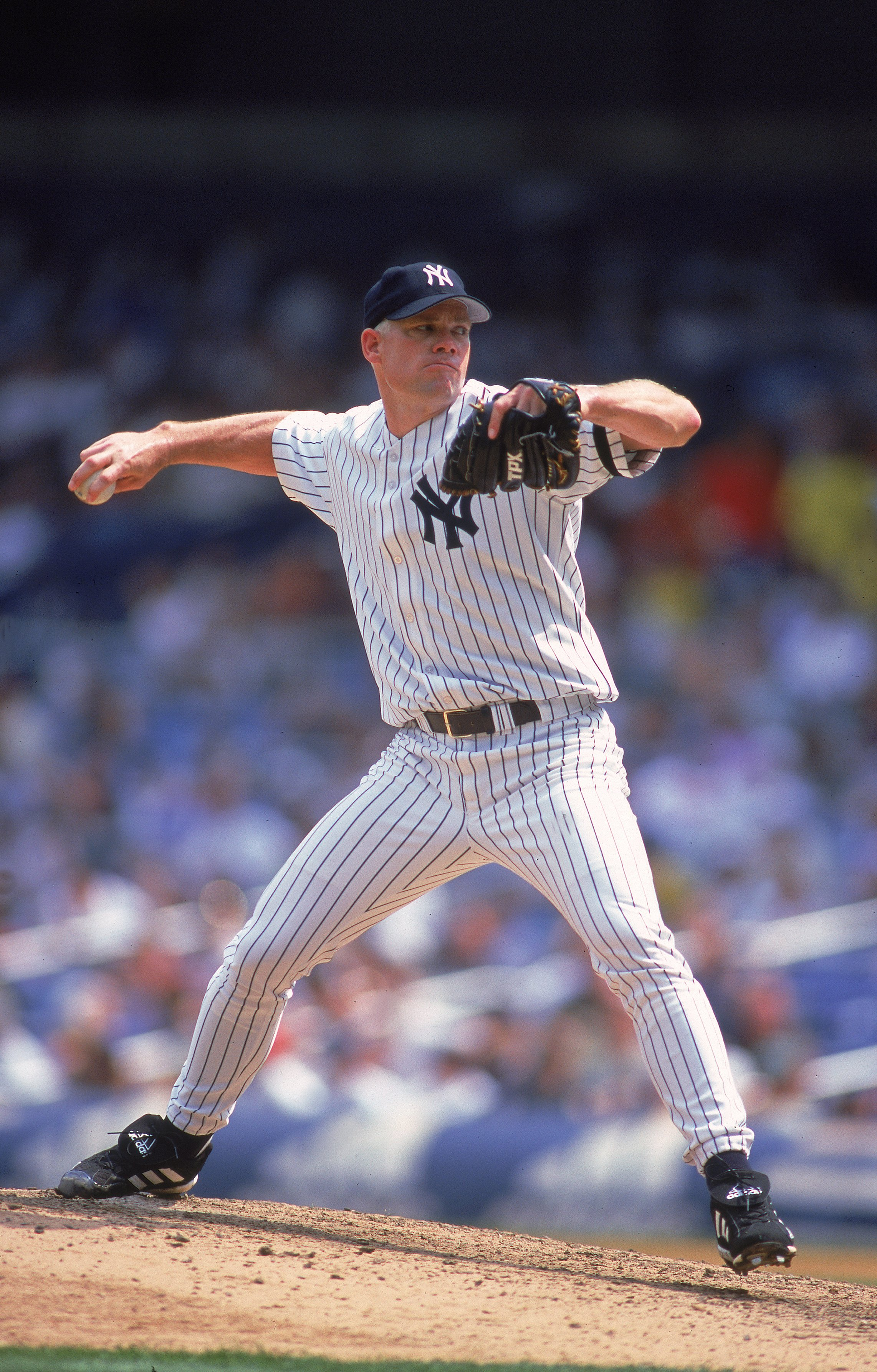 2 Aug 2000:  Pitcher Jason Grimsley #38 of the New York Yankees in action pitching during the game against the Kansas City Royals at Yankee Stadium in the Bronx, New York. The Royals defeated the Yankees 4-1.Mandatory Credit: Al Bello  /Allsport