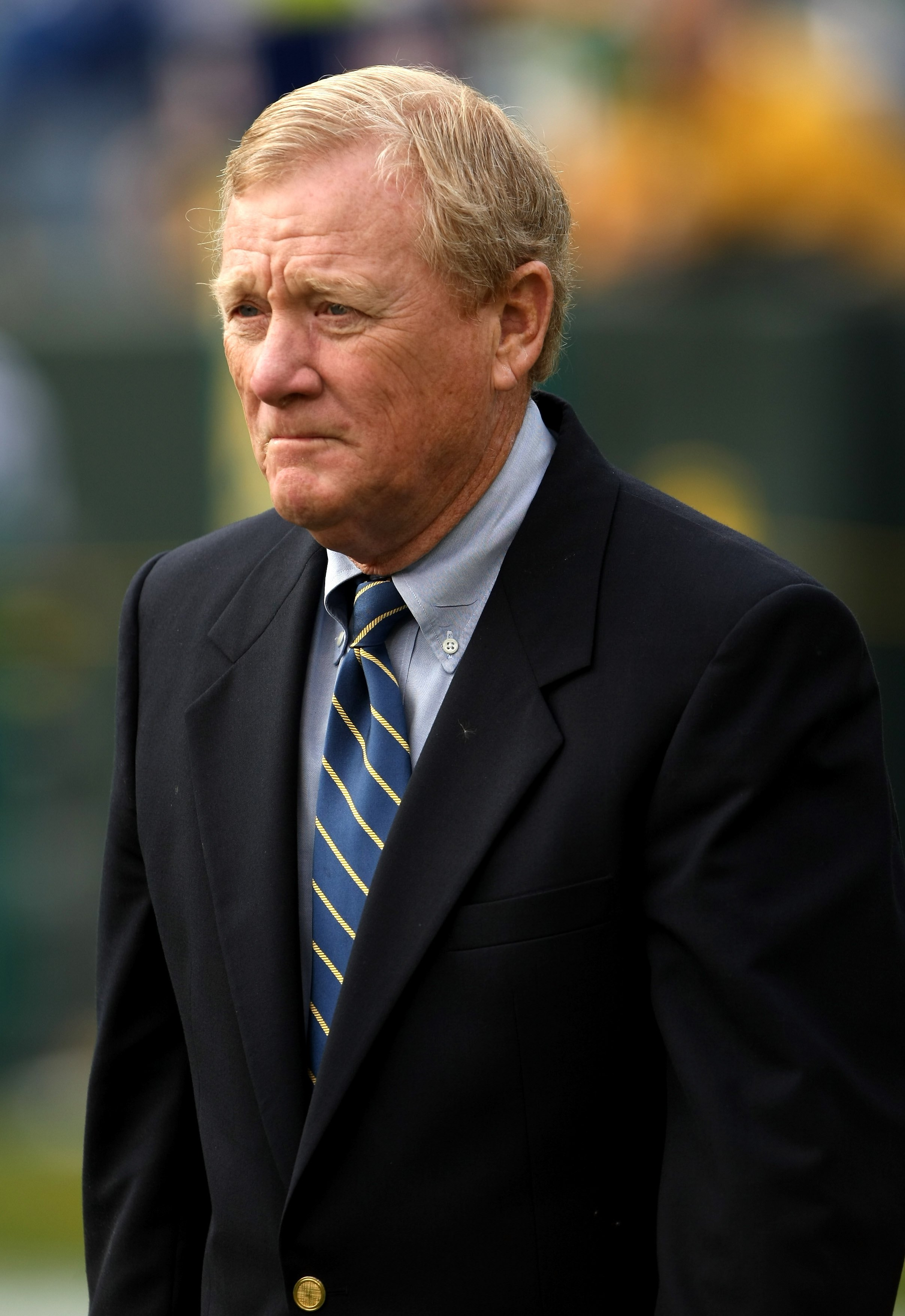 GREEN BAY, WI - OCTOBER 19:  Indianapolis Colts president Bill Polian walks on the field during warmups for the game with the Green Bay Packers on October 19, 2008 at Lambeau Field in Green Bay Wisconsin. The Packers won 34-14.   (Photo by Stephen Dunn/Ge