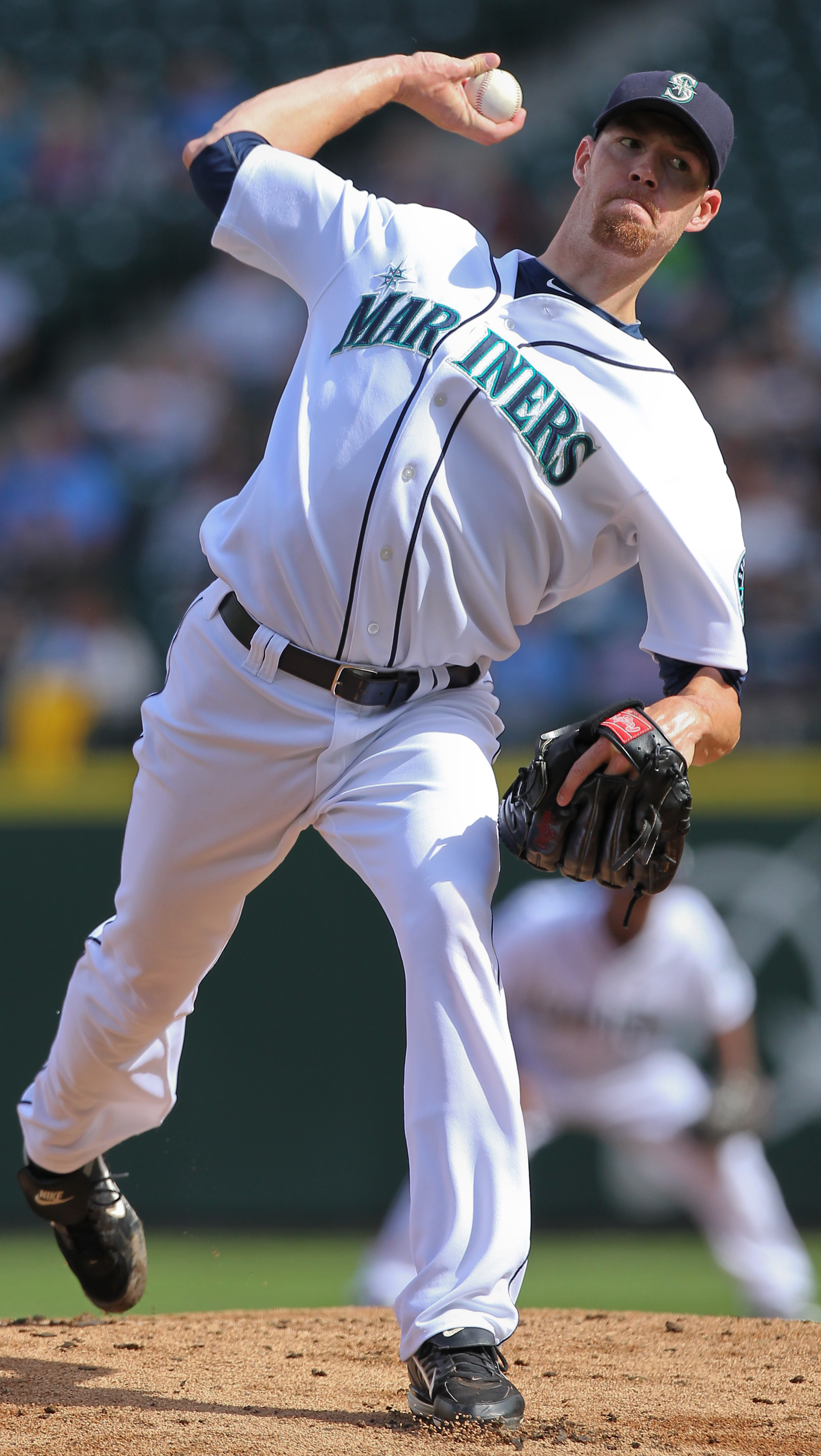 SEATTLE - SEPTEMBER 19:  Starting pitcher Doug Fister #58 of the Seattle Mariners pitches against the Texas Rangers at Safeco Field on September 19, 2010 in Seattle, Washington. The Mariners won 2-1. (Photo by Otto Greule Jr/Getty Images)
