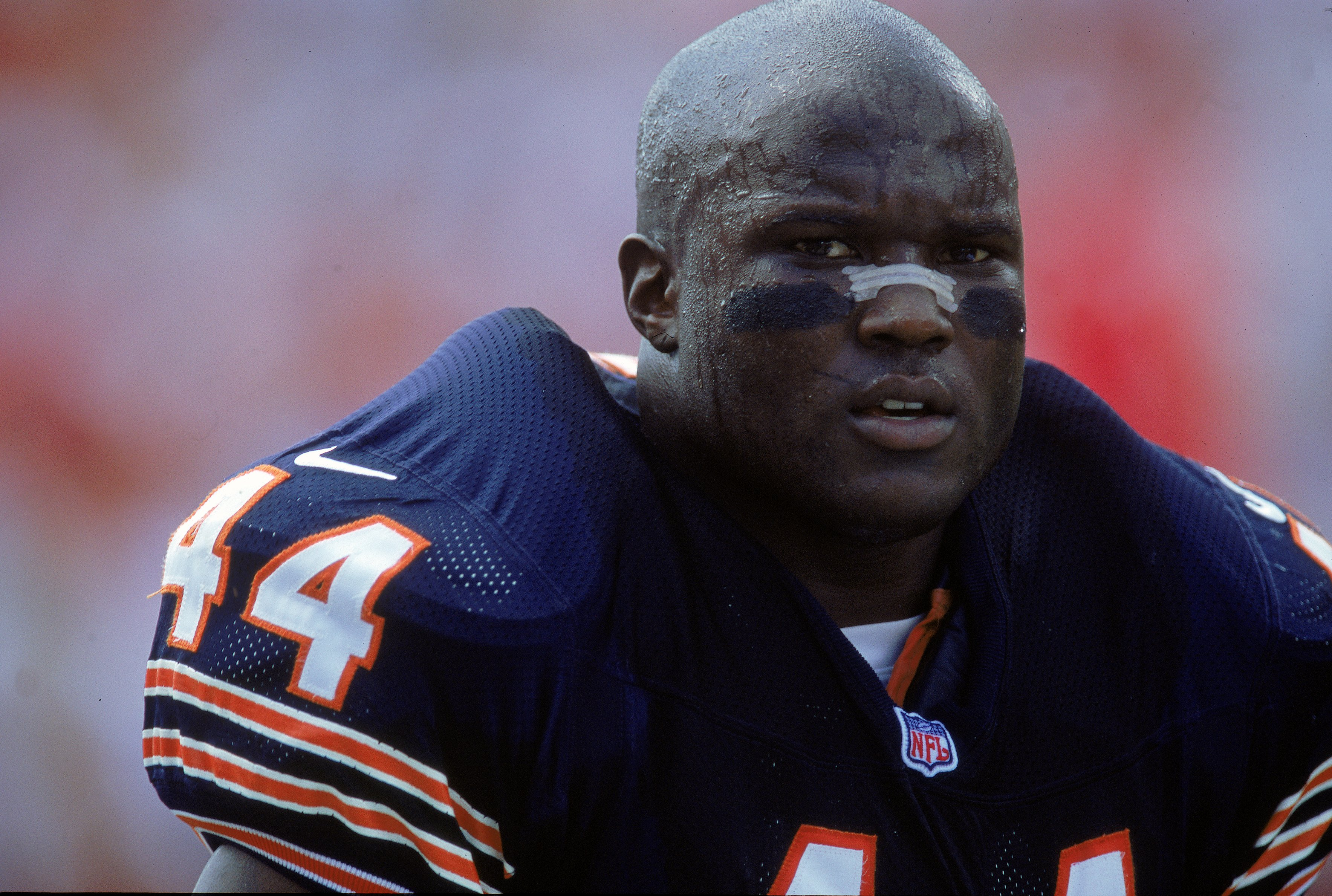 10 Sep 2000:  A close up of Curtis Enis #44 of the Chicago Bears watching the action during the game against the Tampa Bay Buccaneers at the Raymond James Stadium in Tampa Bay, Florida. The Buccaneers defeated the Bears 40-0.Mandatory Credit: Andy Lyons