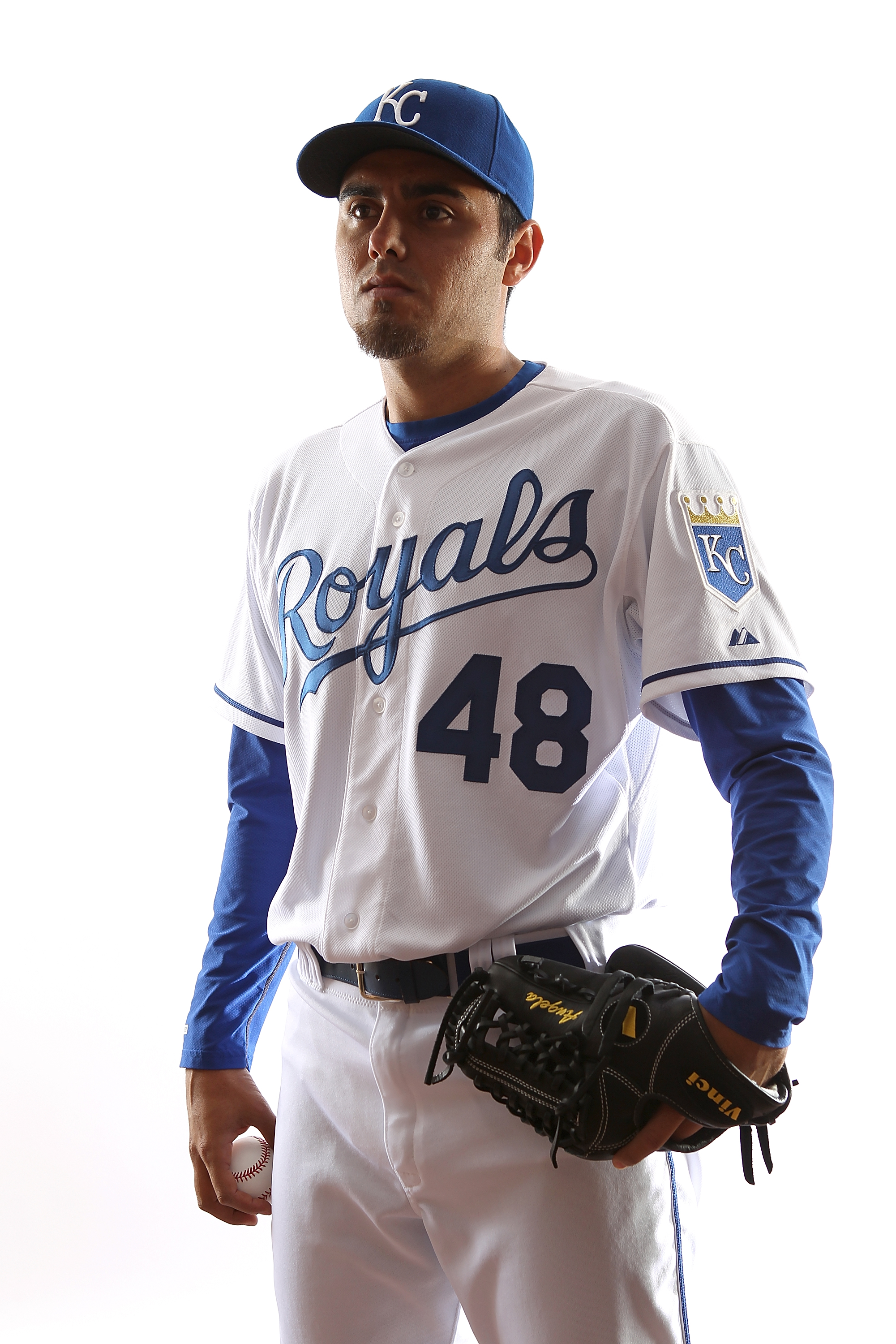 SURPRISE, AZ - FEBRUARY 23:  Picther Joakim Soria #48 of the Kansas City Royals poses for a portrait during Spring Training Media Day on February 23, 2011 at Suprise Stadium in Surprise, Arizona..  (Photo by Jonathan Ferrey/Getty Images)