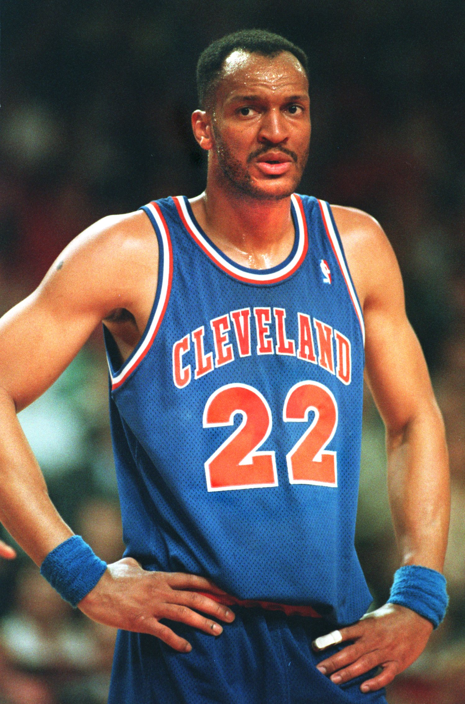 13 MAY 1993:  LARRY NANCE OF THE CLEVELAND CAVALIERS ON THE COURT DURING A 104-85 LOSS TO THE CHICAGO BULLS IN THE SECOND ROUND OF THE NBA PLAYOFFS. Mandatory Credit: Jonathan Daniel/ALLSPORT