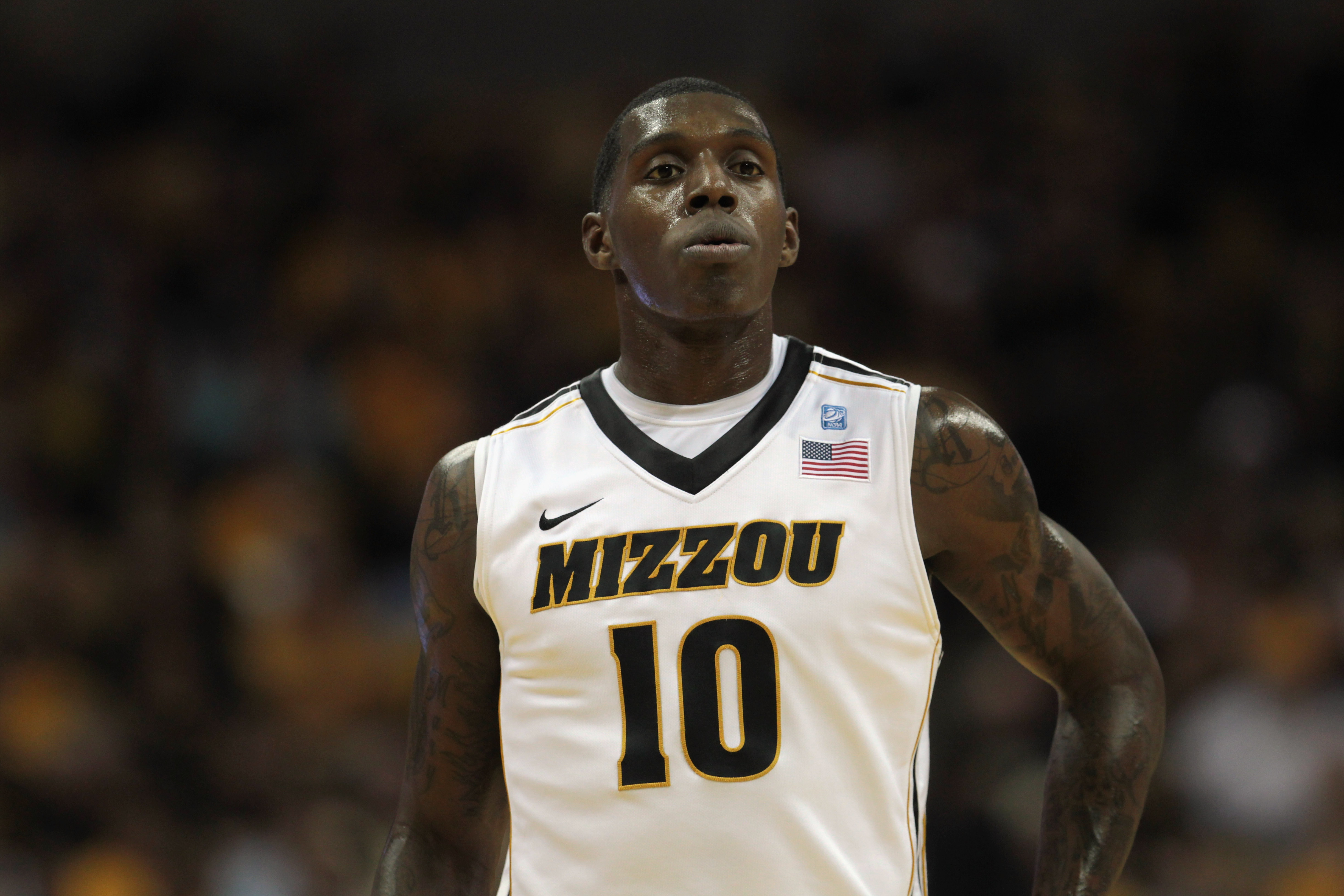 COLUMBIA, MO - DECEMBER 08:  Ricardo Ratliffe #10 of the Missouri Tigers in action during the game against the Vanderbilt Commodores on December 8, 2010 at Mizzou Arena in Columbia, Missouri.  (Photo by Jamie Squire/Getty Images)