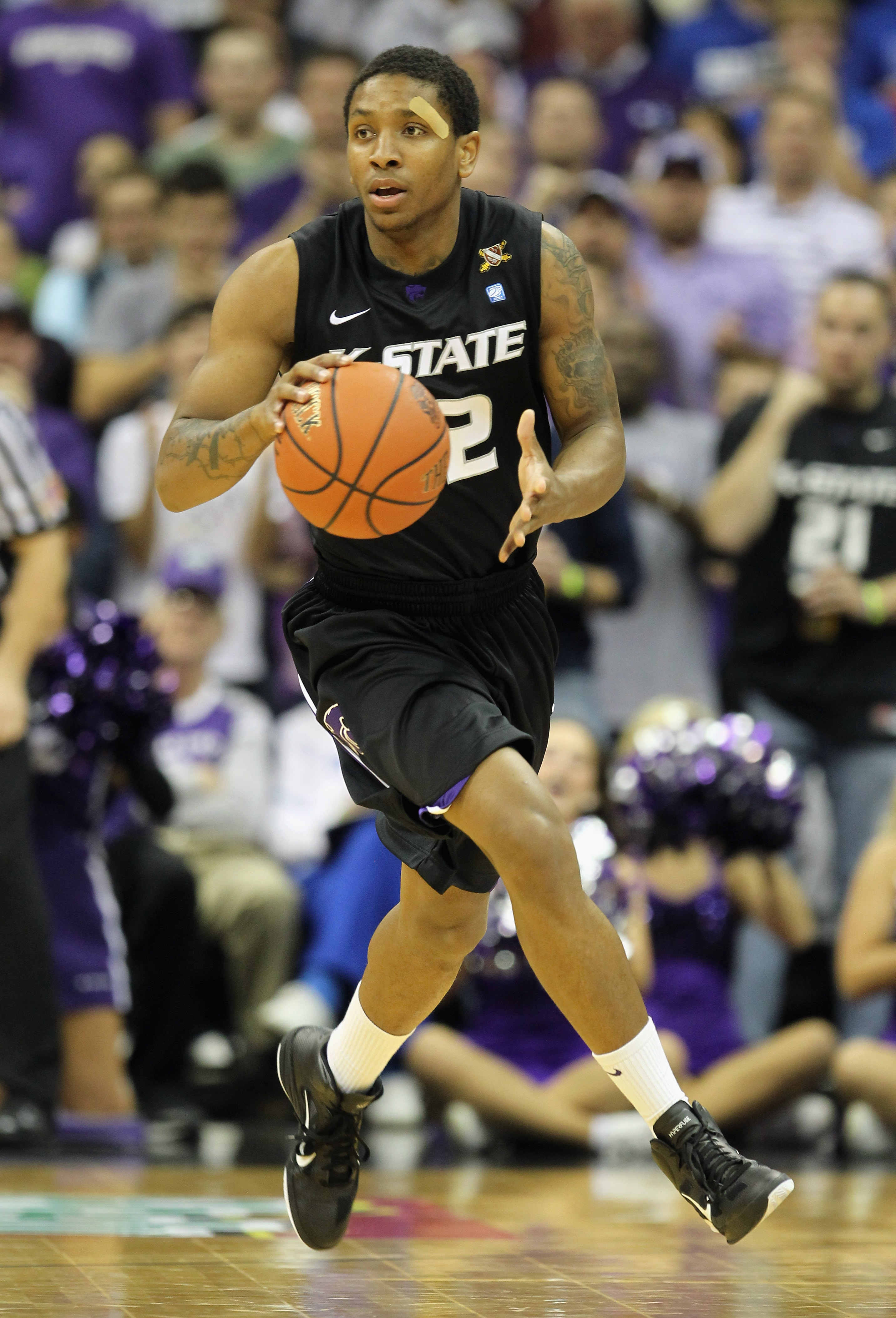 KANSAS CITY, MO - NOVEMBER 22:  Rodney McGruder #22 of the Kansas State Wildcats in action  during the CBE Classic game against the Gonzaga Bulldogs on November 22, 2010 at the Sprint Center in Kansas City, Missouri.  (Photo by Jamie Squire/Getty Images)