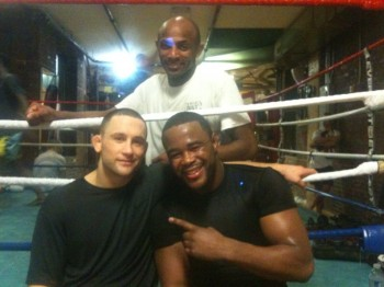 Frankie Edgar training with Rashad Evans