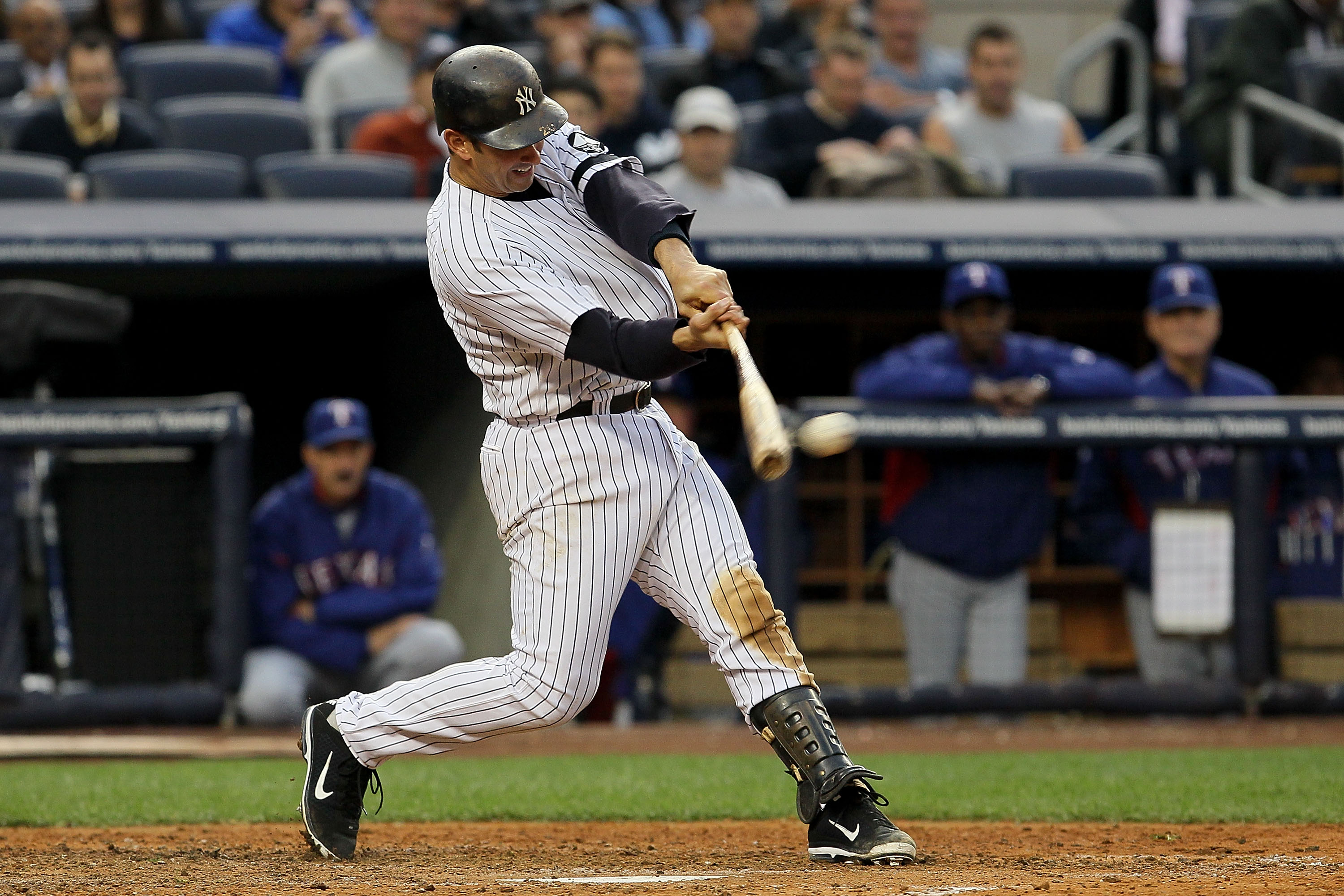 Jorge Posada hasn't broken down yet, but if he does, Travis Hafner could fill in for him.