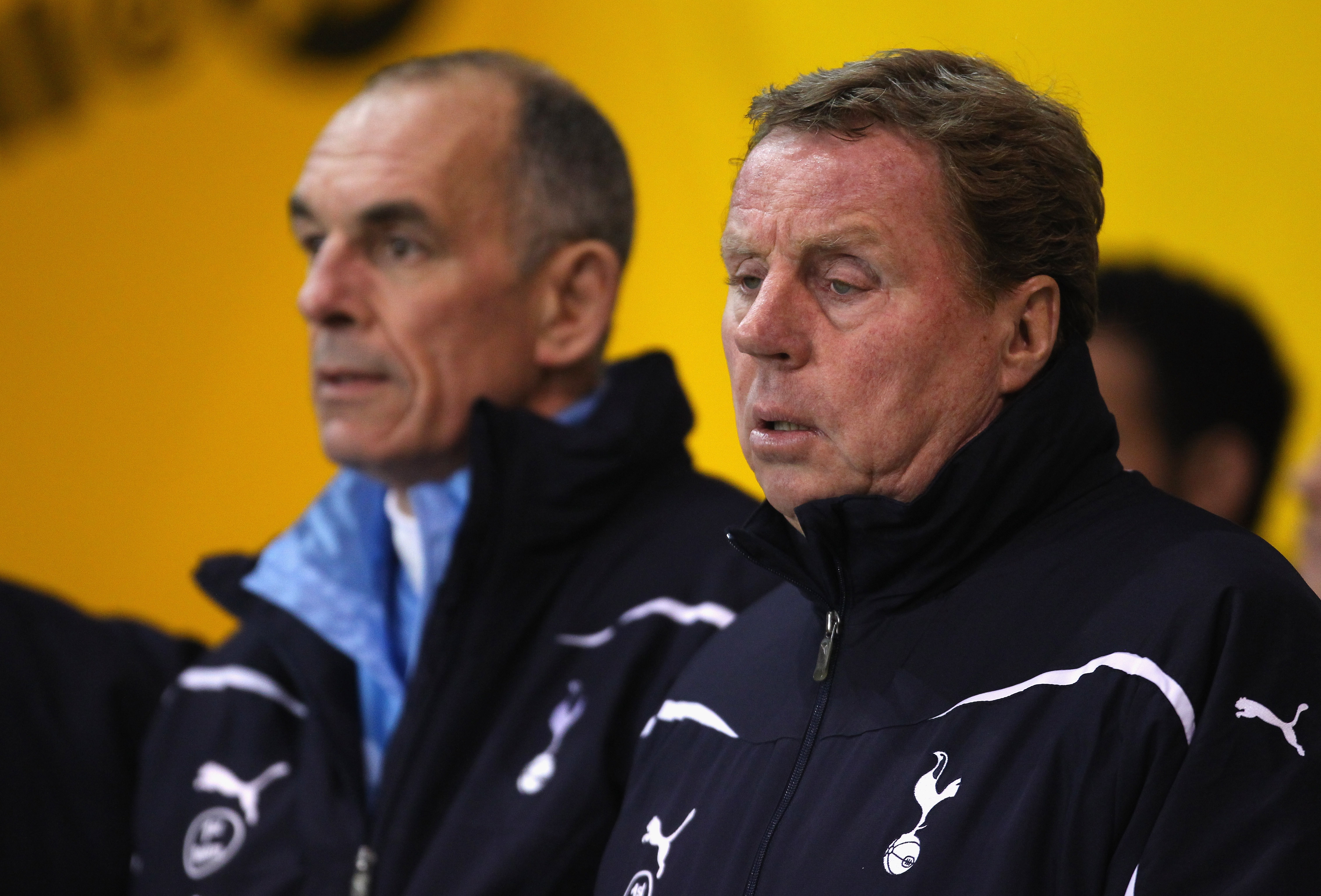 BLACKPOOL, ENGLAND - FEBRUARY 22:  Harry Redknapp the manager of Tottenham Hotspur looks on during the Barclays Premier League match between Blackpool and Tottenham Hotspur at Bloomfield Road on February 22, 2011 in Blackpool, England.  (Photo by Alex Liv