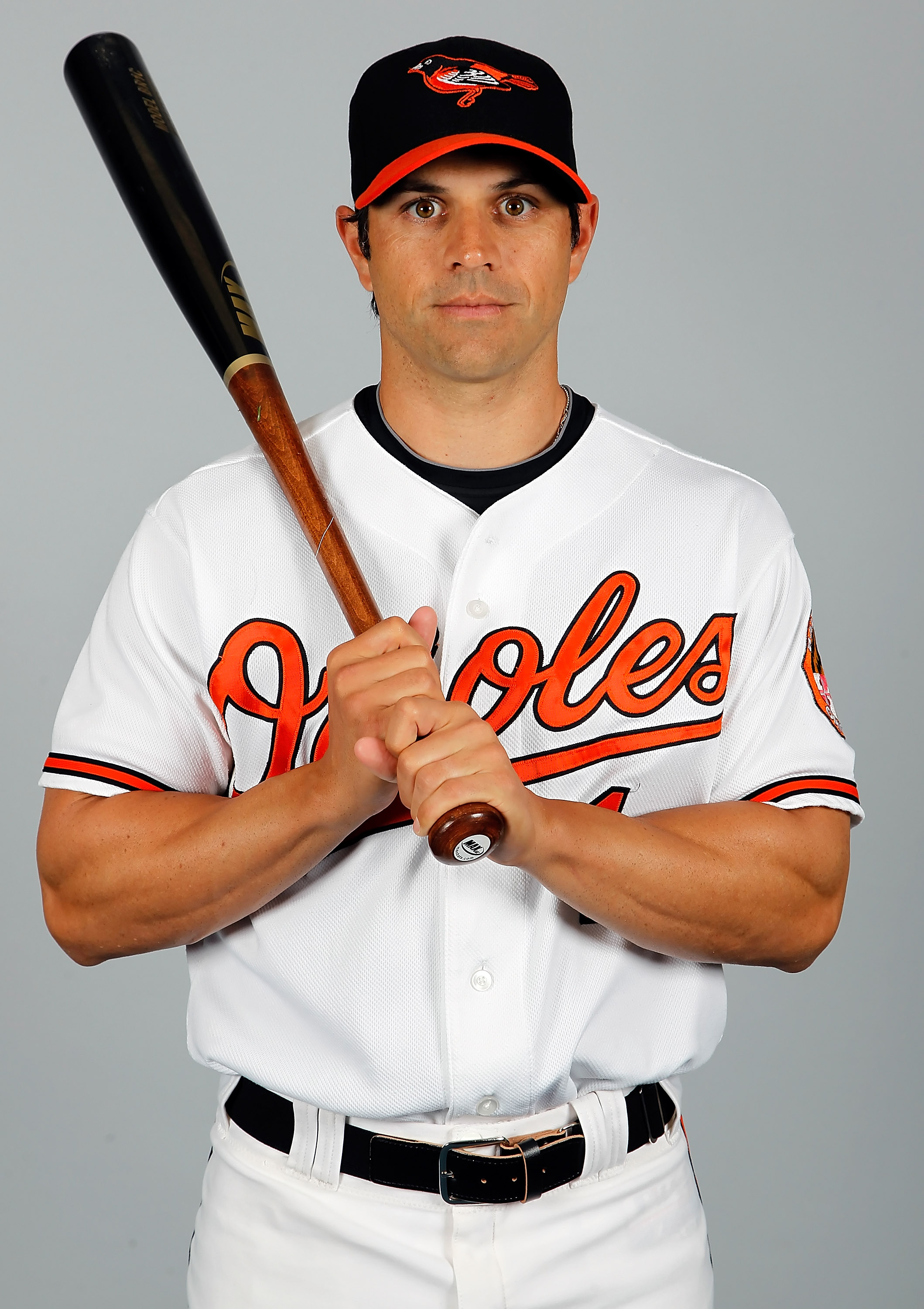 SARASOTA, FL - FEBRUARY 26:  Infielder Brian Roberts #1 of the Baltimore Orioles poses for a photo during photo day at Ed Smith Stadium on February 26, 2011 in Sarasota, Florida.  (Photo by J. Meric/Getty Images)