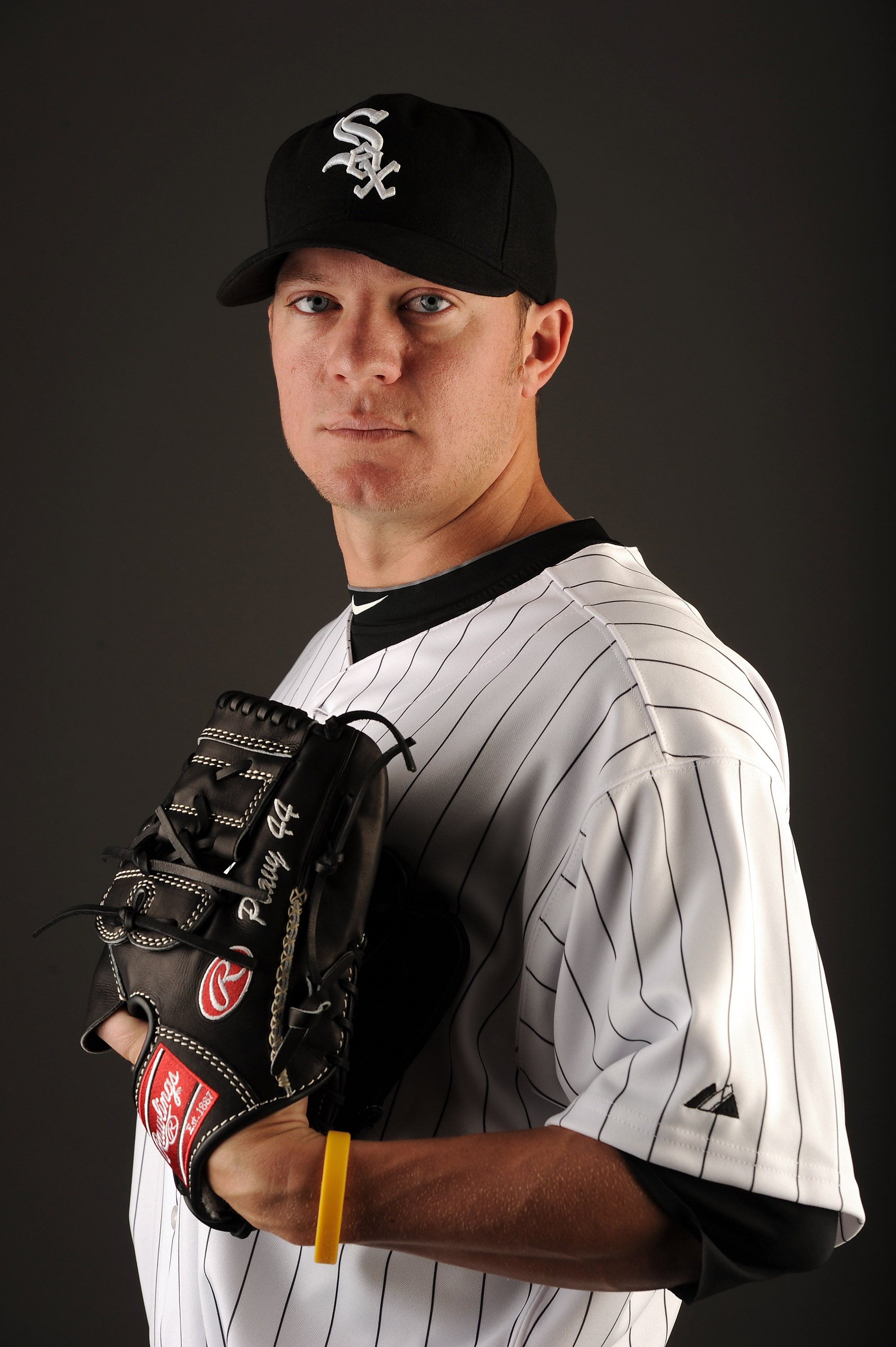 GLENDALE, AZ - FEBRUARY 26:  Jake Peavy #44 of the Chicago White Sox poses for a photo on photo day at Camelback Ranch on February 26, 2011 in Glendale, Arizona.  (Photo by Harry How/Getty Images)