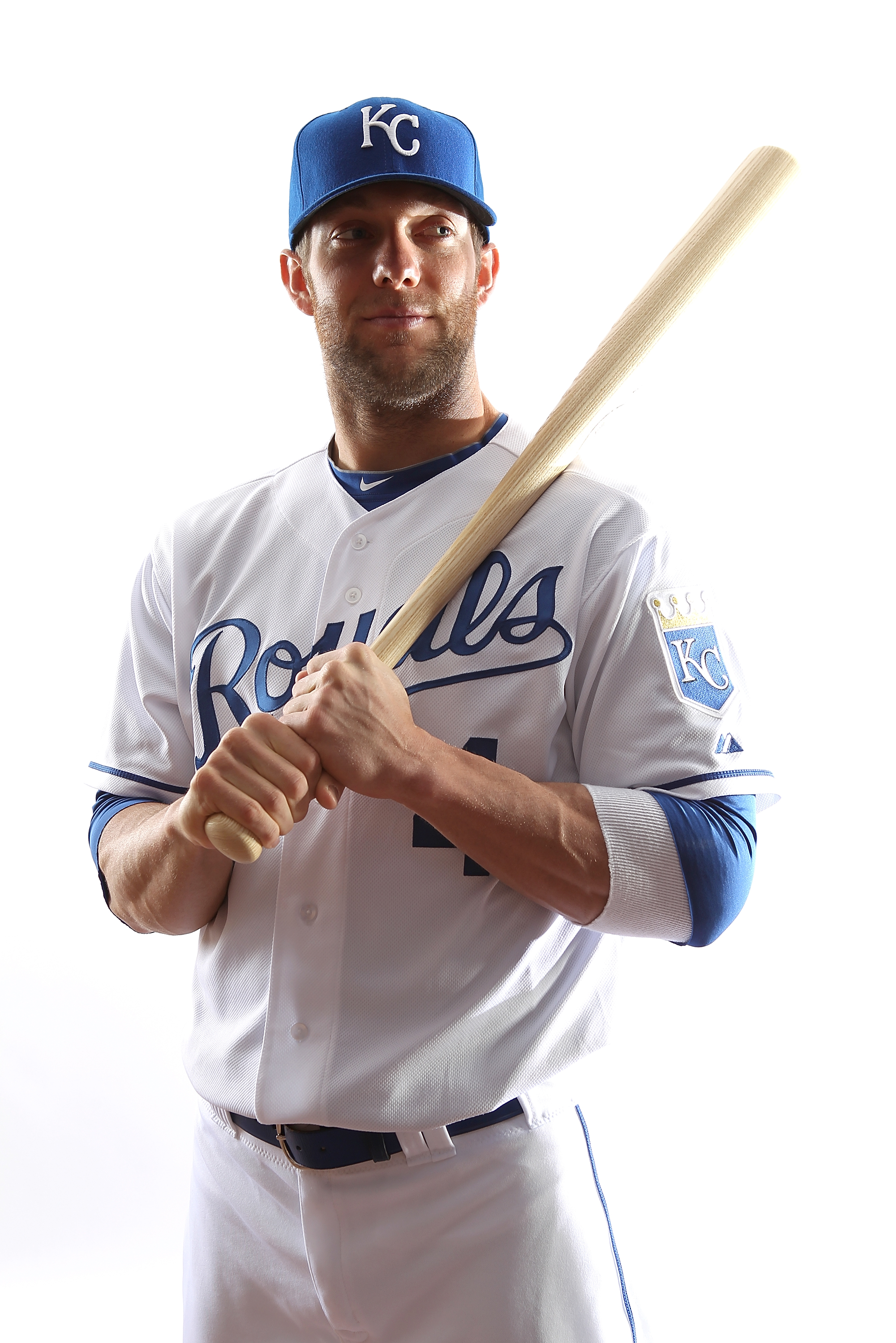SURPRISE, AZ - FEBRUARY 23:  Alex Gordon #4 of the Kansas City Royals poses for a portrait during Spring Training Media Day on February 23, 2011 at Surprise Stadium in Surprise, Arizona..  (Photo by Jonathan Ferrey/Getty Images)