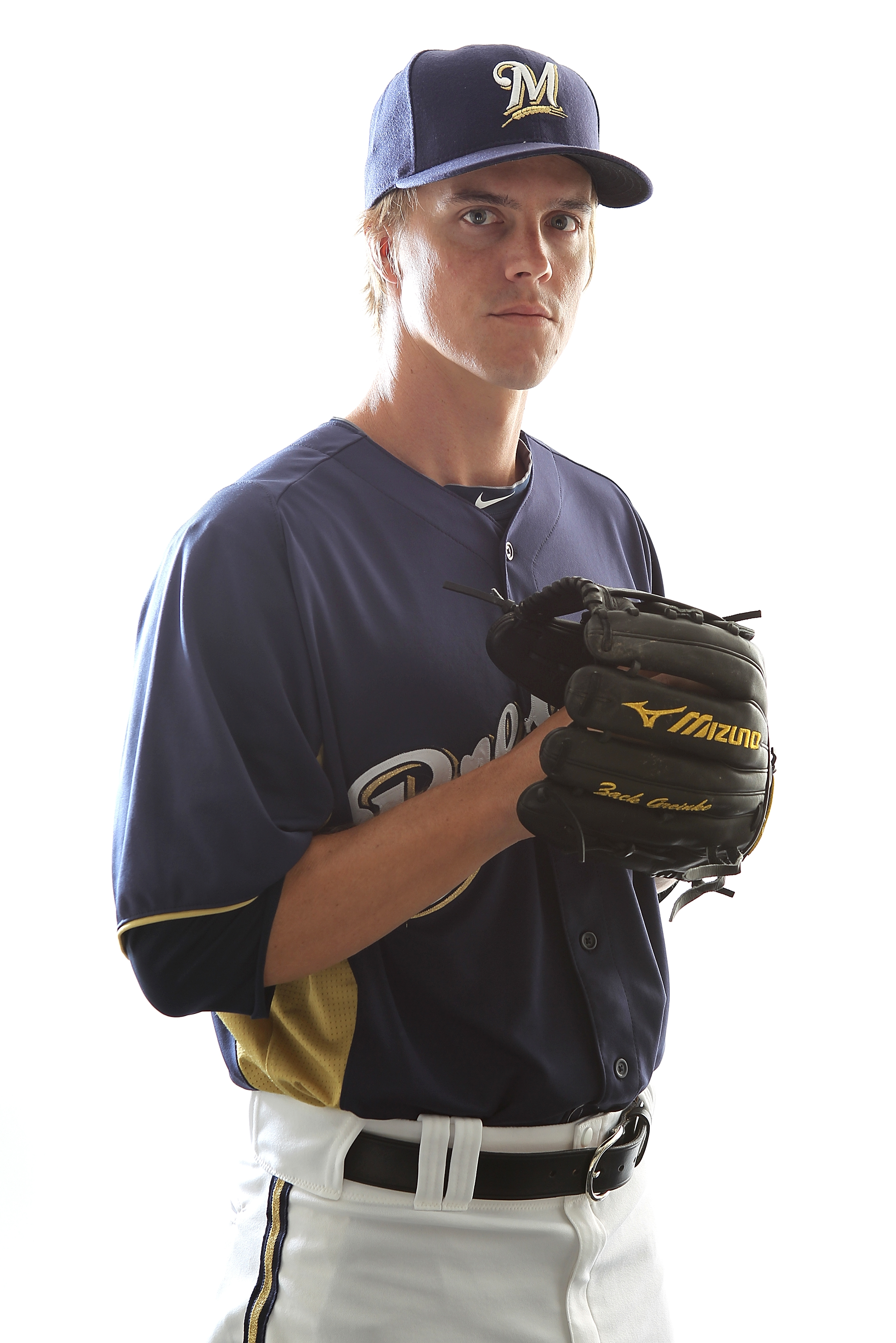 MARYVALE, AZ - FEBRUARY 24:  Zack Greinke #13 of the Milwaukee Brewers poses for a portrait during Spring Training Media Day on February 24, 2011 at Maryvale Stadium in Maryvale, Arizona.  (Photo by Jonathan Ferrey/Getty Images)