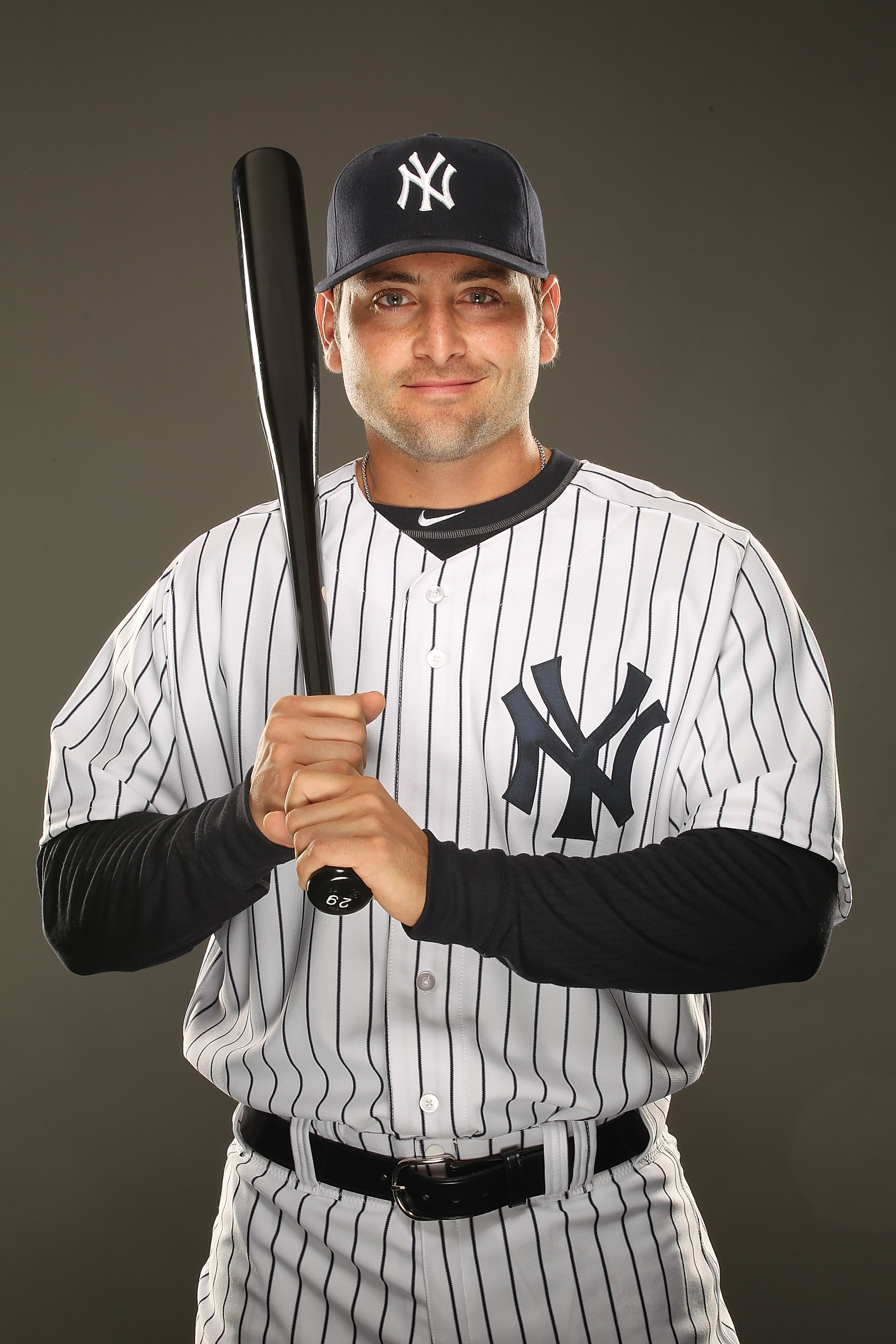 TAMPA, FL - FEBRUARY 23:  Francisco Cervelli #17 of the New York Yankees poses for a portrait on Photo Day at George M. Steinbrenner Field on February 23, 2011 in Tampa, Florida.  (Photo by Al Bello/Getty Images)