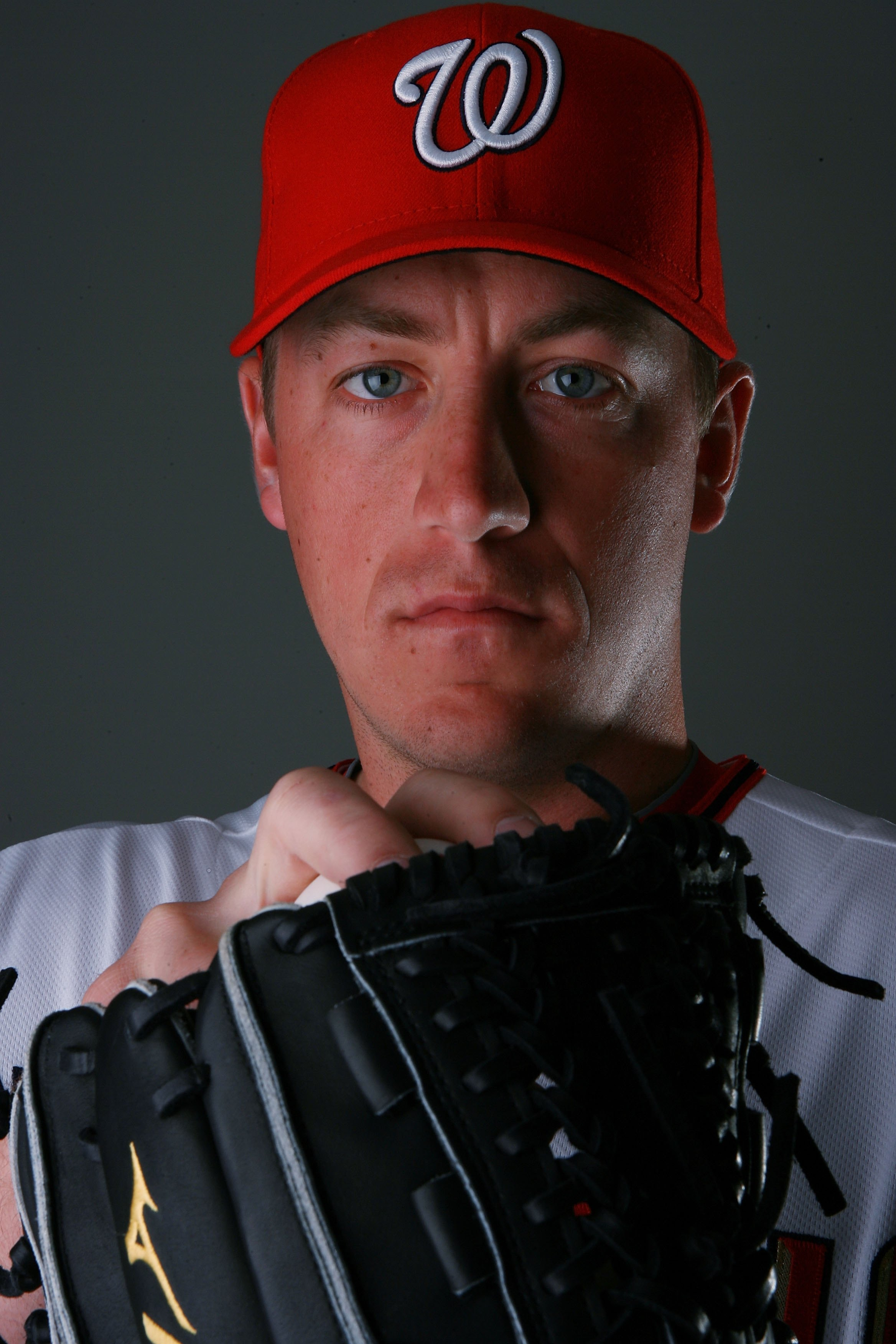 VIERA, FL - FEBRUARY 28:  Pitcher Jordan Zimmermann #27 of the Washington Nationals poses during photo day at Space Coast Stadium on February 28, 2010 in Viera, Florida.  (Photo by Doug Benc/Getty Images)