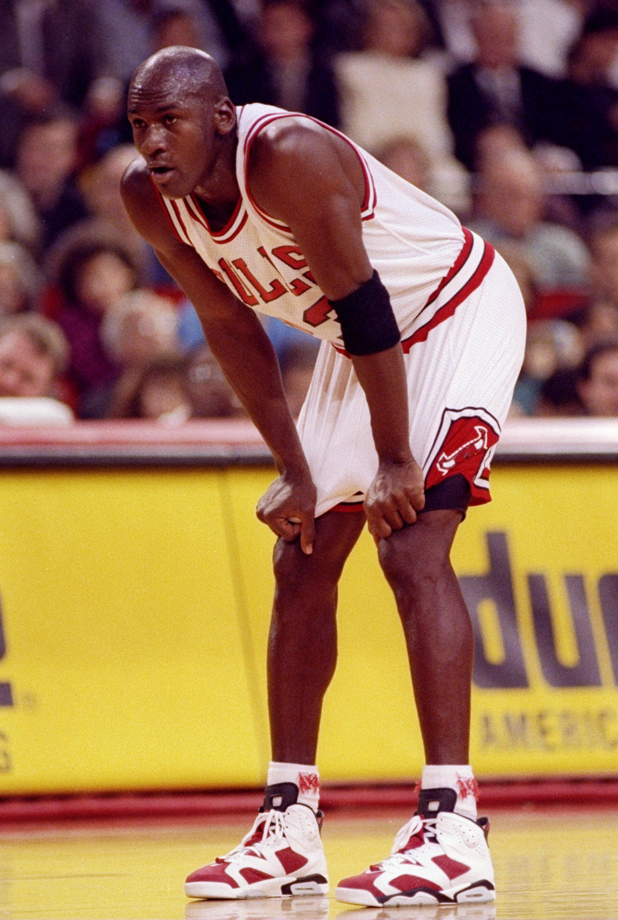 1 Nov 1991:  Guard Michael Jordan of the Chicago Bulls looks on during a game against the Philadelphia 76ers.  The Bulls won the game  110-90. Mandatory Credit: Jonathan Daniel  /Allsport