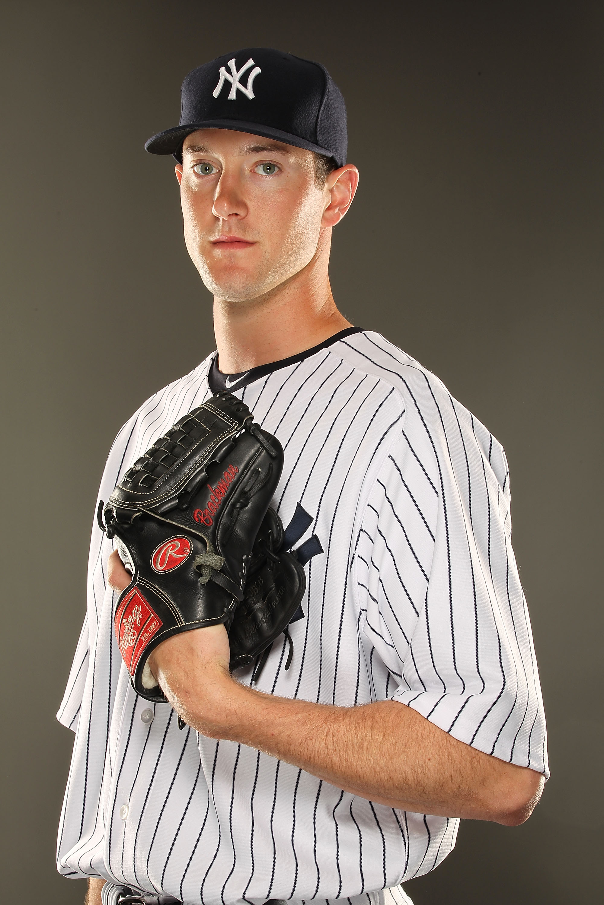 TAMPA, FL - FEBRUARY 23:  Andrew Brackman #66 of the New York Yankees poses for a portrait on Photo Day at George M. Steinbrenner Field on February 23, 2011 in Tampa, Florida.  (Photo by Al Bello/Getty Images)