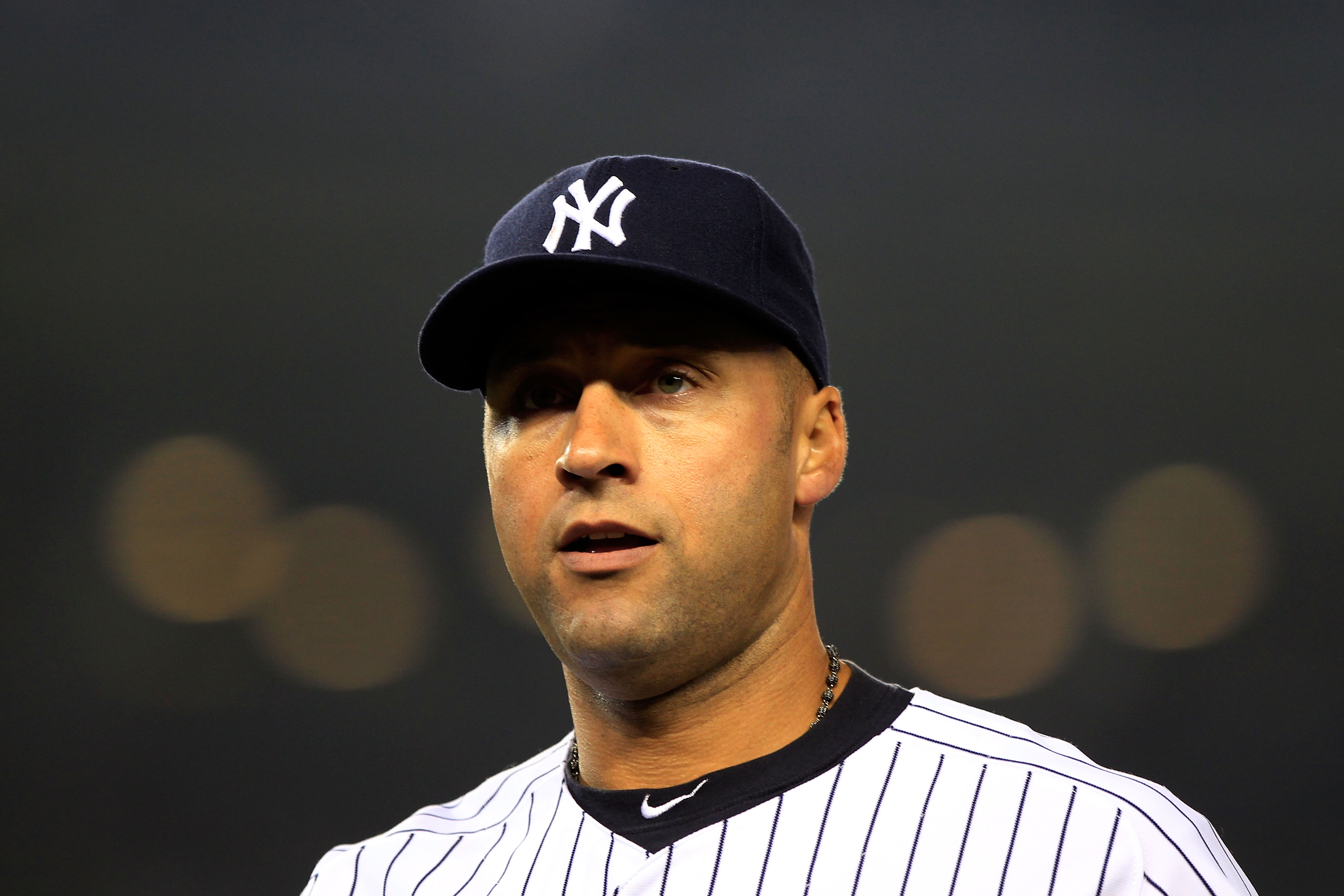 NEW YORK, NY - APRIL 25:  Derek Jeter #2 of the New York Yankees looks on from the field during the game against the Chicago White Sox at Yankee Stadium on April 25, 2011 in the Bronx borough of New York City.  (Photo by Chris Trotman/Getty Images)