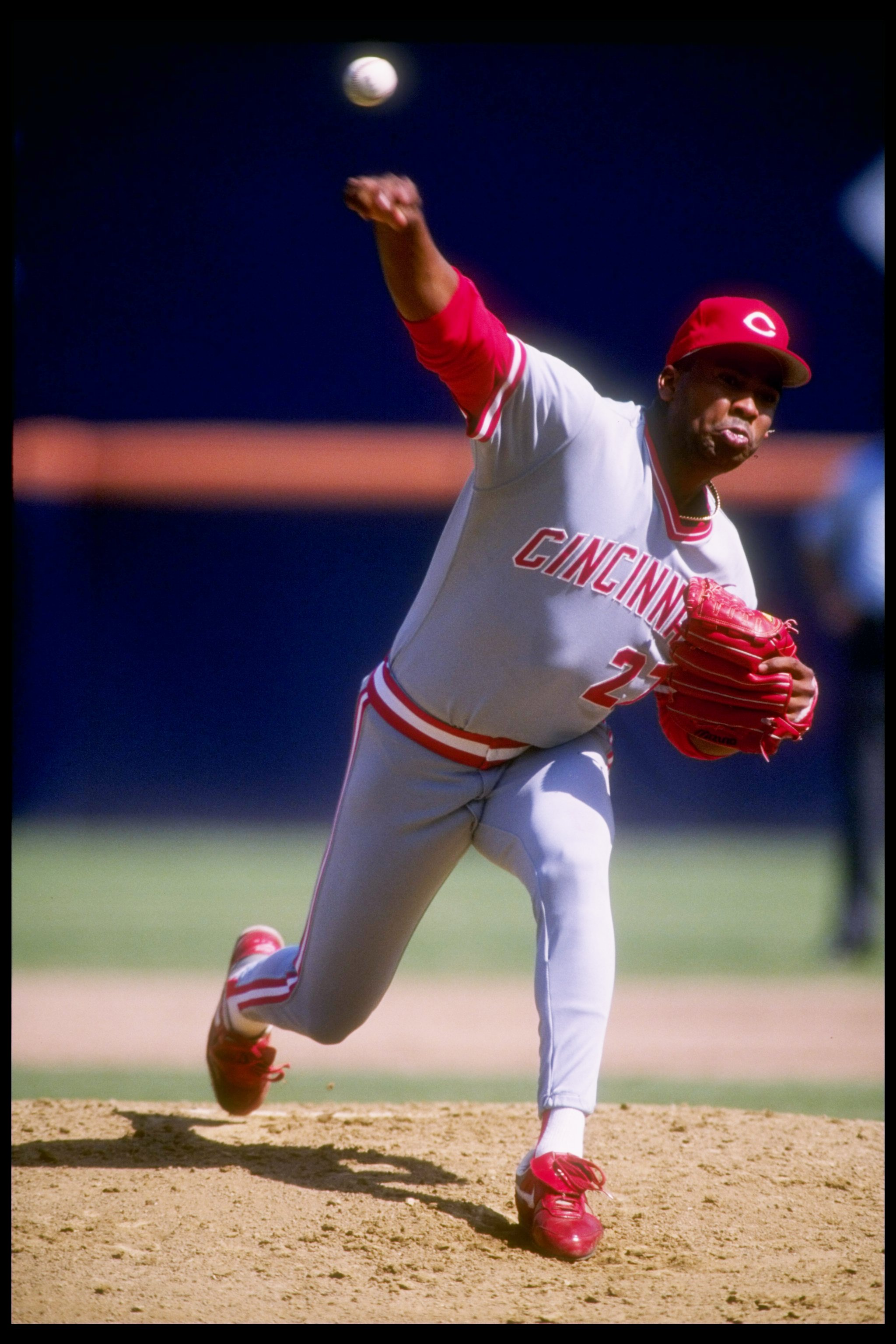 6 Oct 1991:  Pitcher Jose Rijo of the Cincinnati Reds in action during a game against the San Diego Padres at Jack Murphy Stadium in San Diego, California. Mandatory Credit: Stephen Dunn  /Allsport