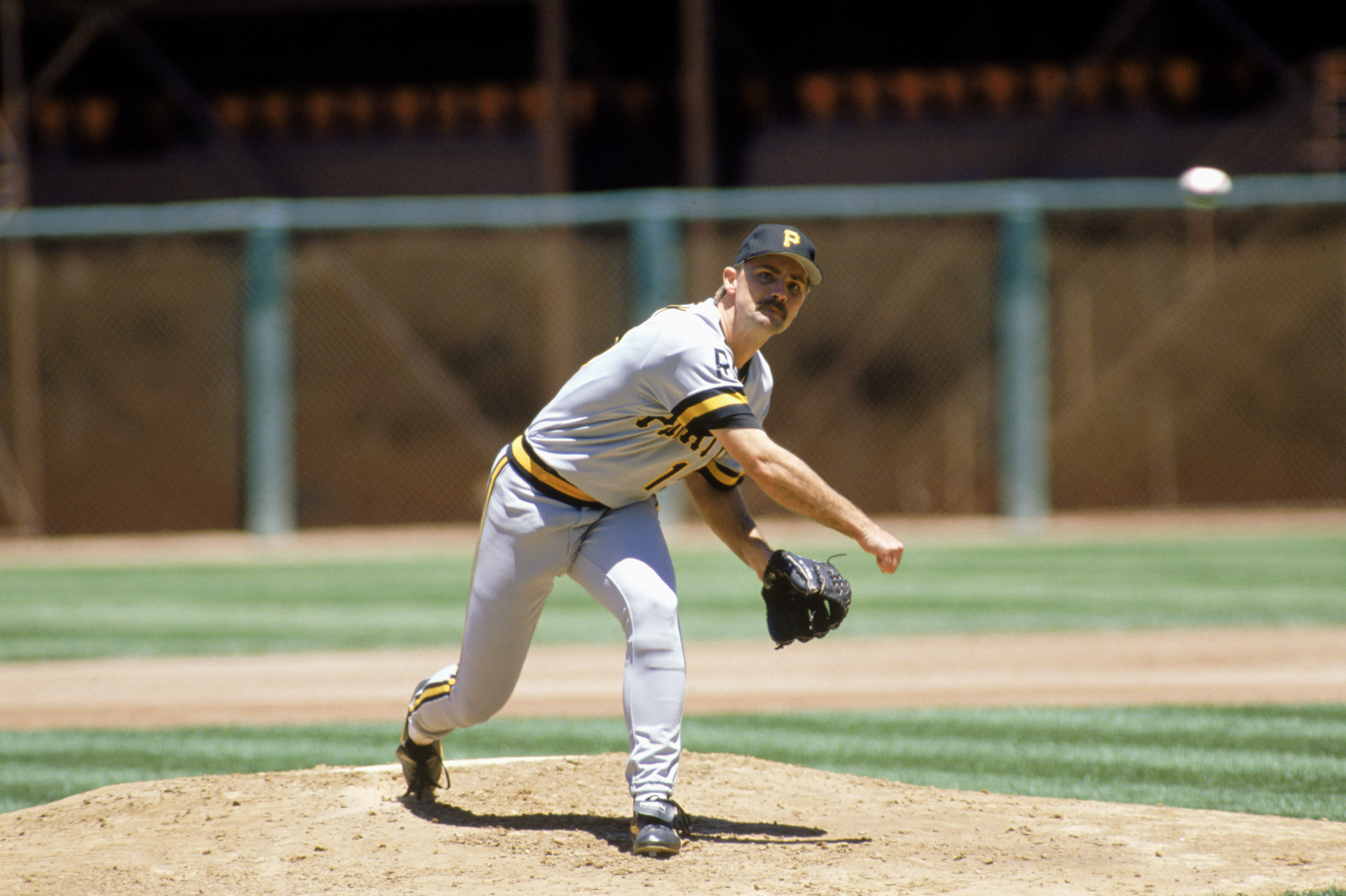 SAN FRANCISCO - 1988:  Doug Drabek #15 of the Pittsburgh Pirates delivers a pitch during a 1988 MLB season game against the San Francisco Giants at Candlestick Park in San Francisco, California.  (Photo by Otto Greule Jr/Getty Images)