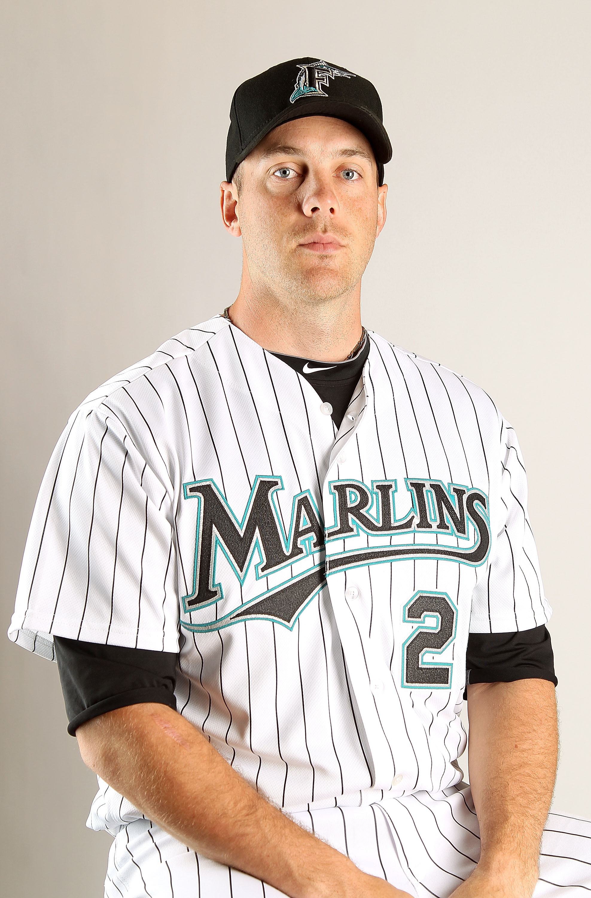 JUPITER, FL - FEBRUARY 23: Shawn Hill #25 of the Florida Marlins during Photo Day at Roger Dean Stadium on February 23, 2011 in Jupiter, Florida.  (Photo by Mike Ehrmann/Getty Images)