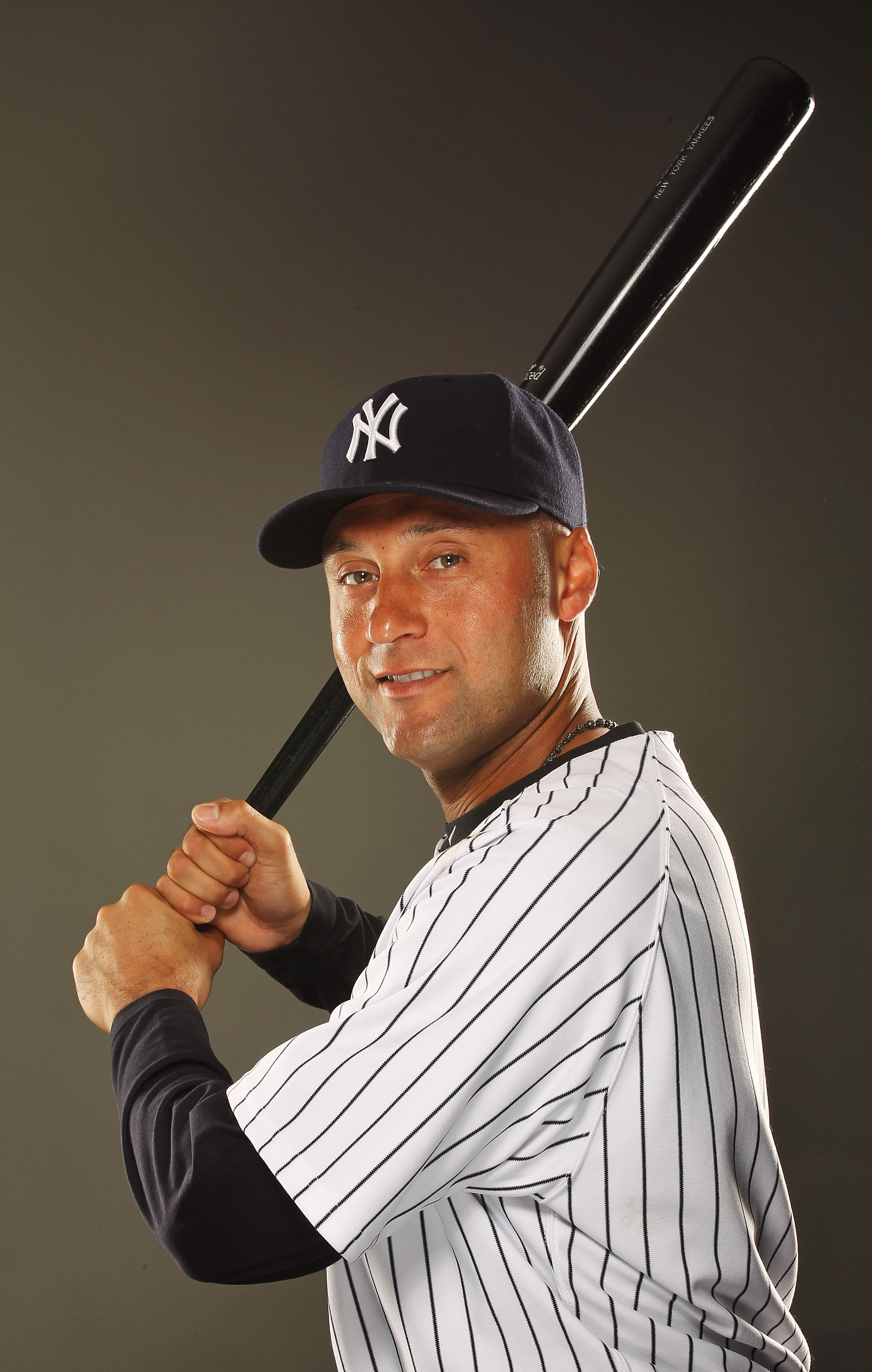 TAMPA, FL - FEBRUARY 23:  Derek Jeter #2 of the New York Yankees poses for a portrait on Photo Day at George M. Steinbrenner Field on February 23, 2011 in Tampa, Florida.  (Photo by Al Bello/Getty Images)