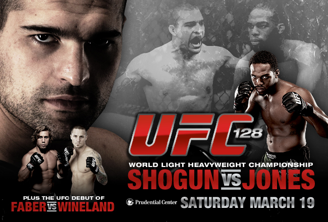 Ufc 128 fight card betting odds horse betting terms forecast