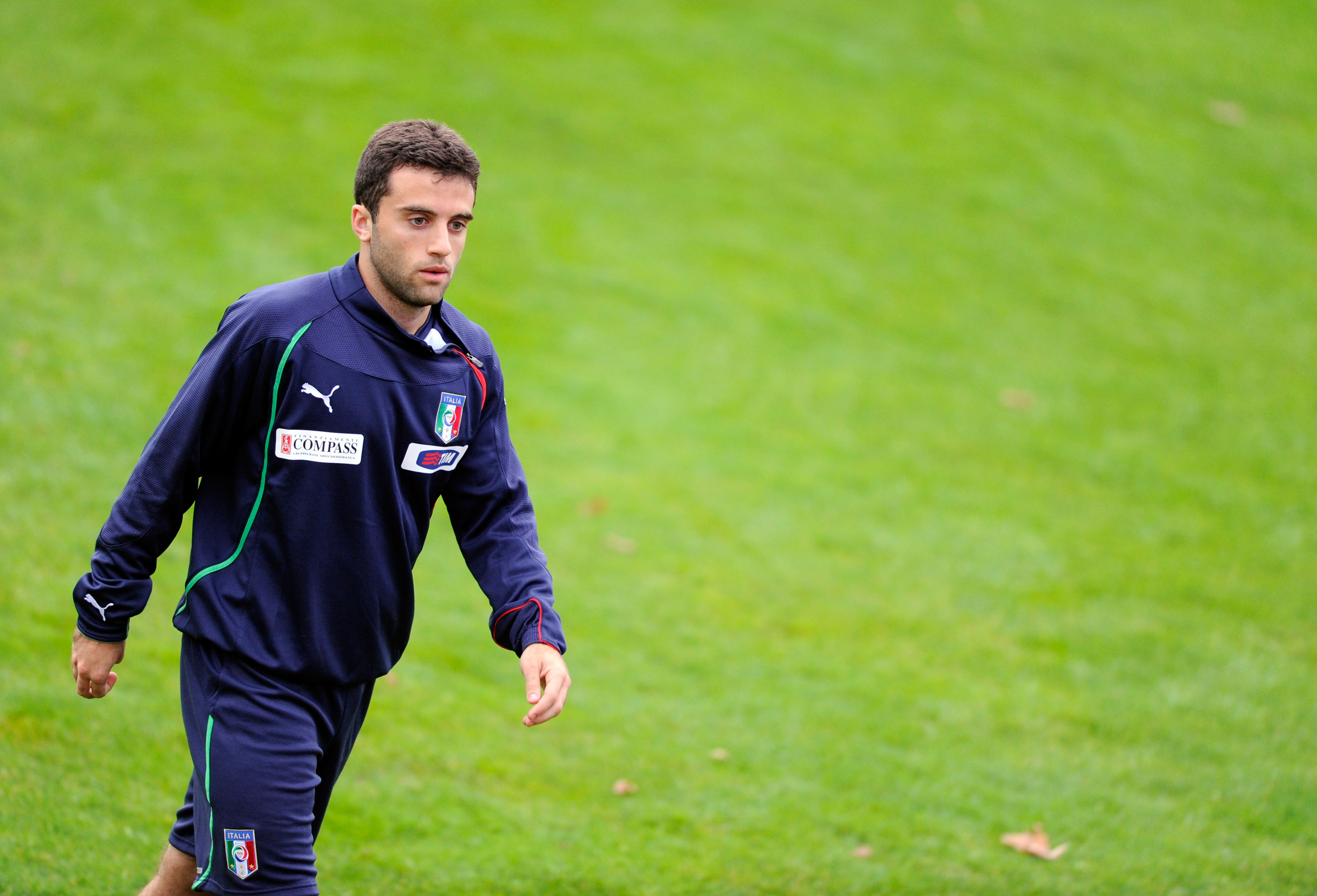 FLORENCE, ITALY - NOVEMBER 15:  Giuseppe Rossi during an Italy Training Session at Coverciano on November 15, 2010 in Florence, Italy.  (Photo by Claudio Villa/Getty Images)