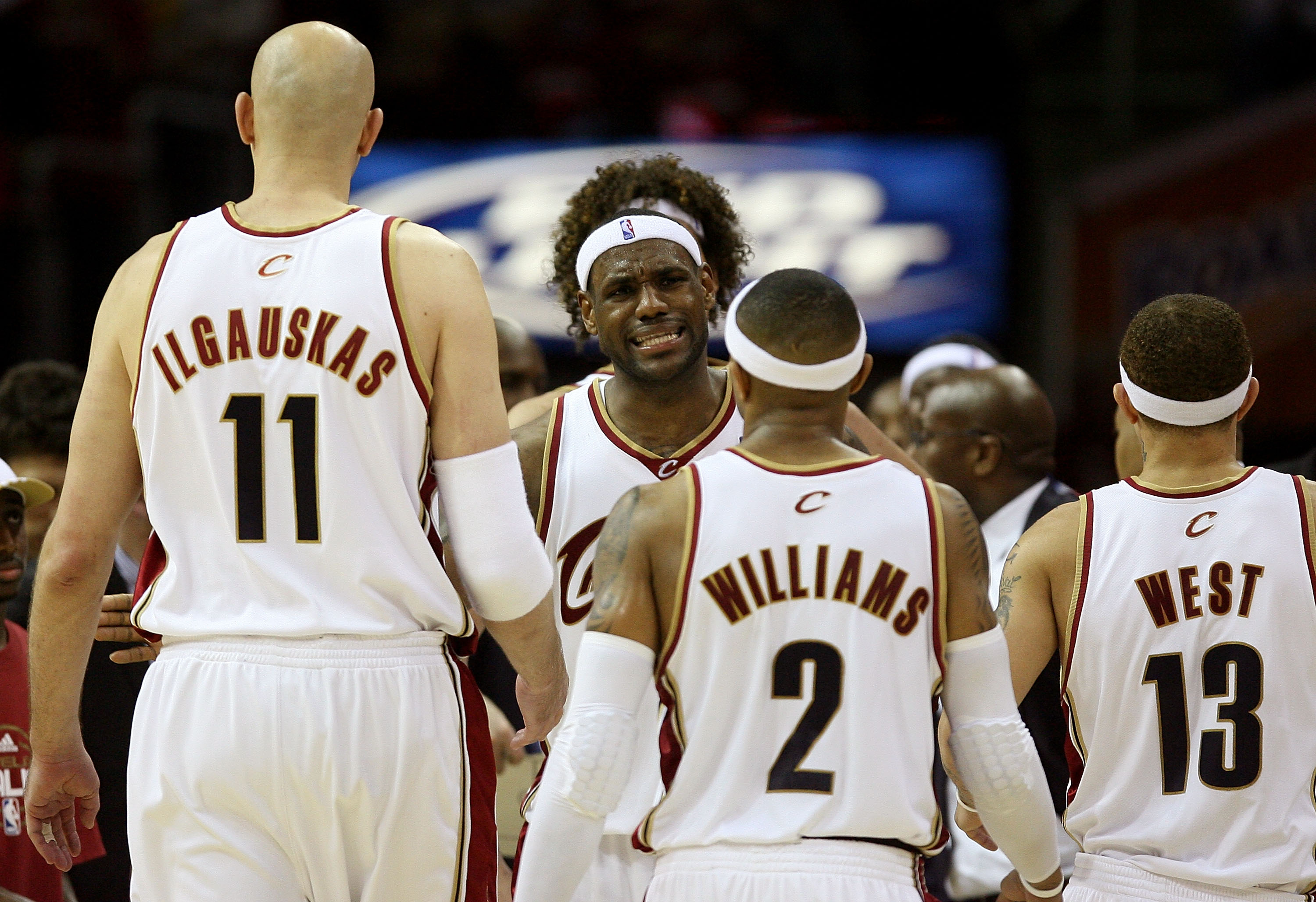 87a74819addd The 50 Greatest Players in Cleveland Cavaliers History. 0 of 50. CLEVELAND  - MAY 20  LeBron James  23 reacts after a play with teammates Zydrunas